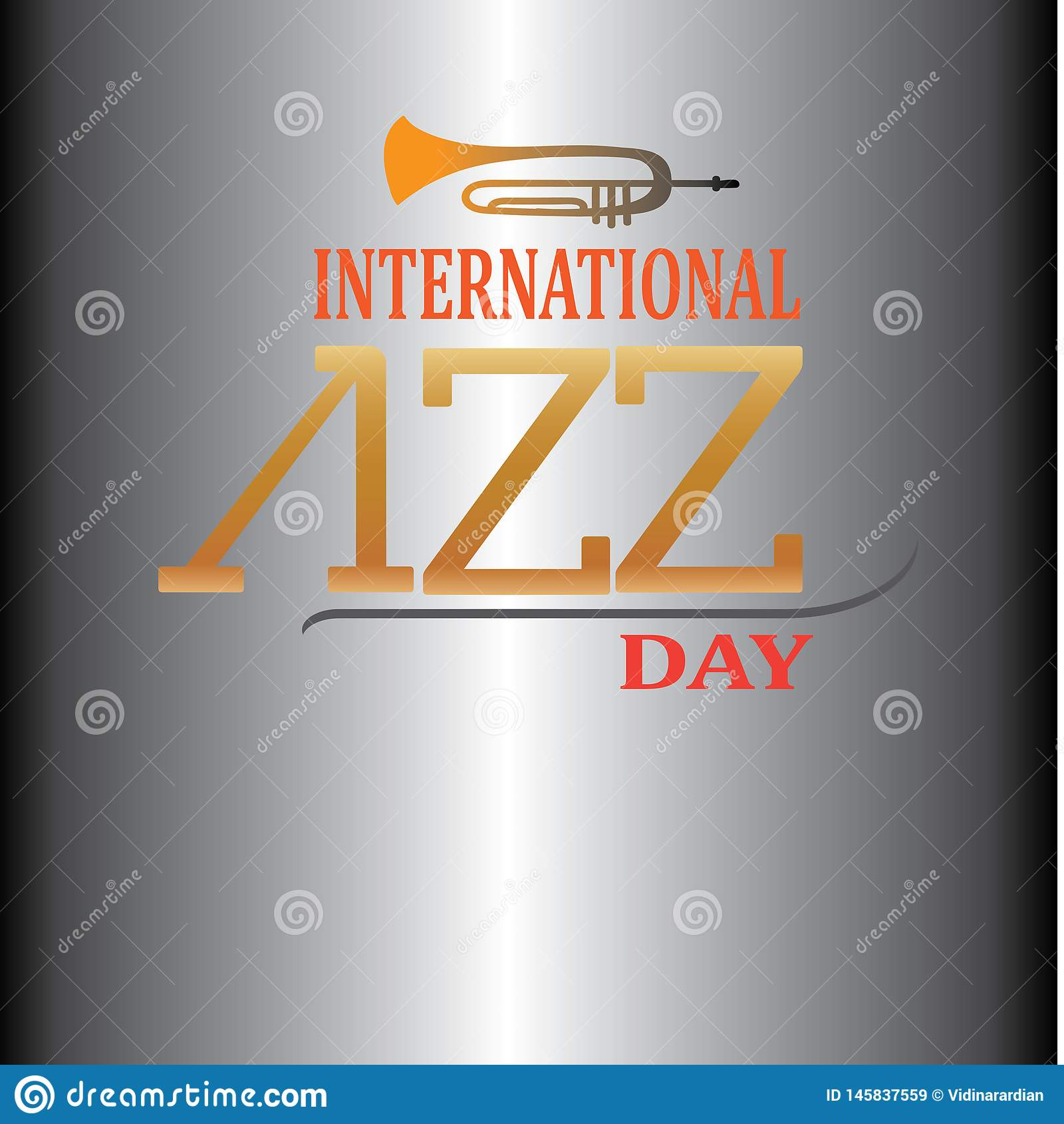 Internationaler Jazz Day Vector Illustrations-Entwurf - Datei des Vektor