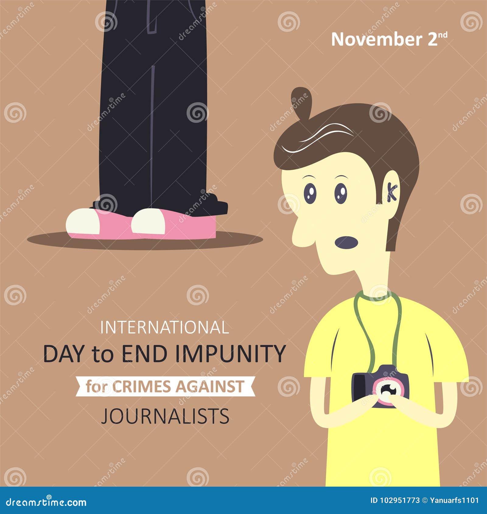 Internationell dag som avslutar straffrihet för brott mot journalister