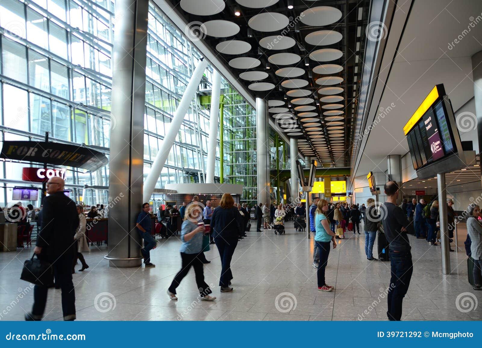 Internationell flygplats för ankomster T5 Heathrow