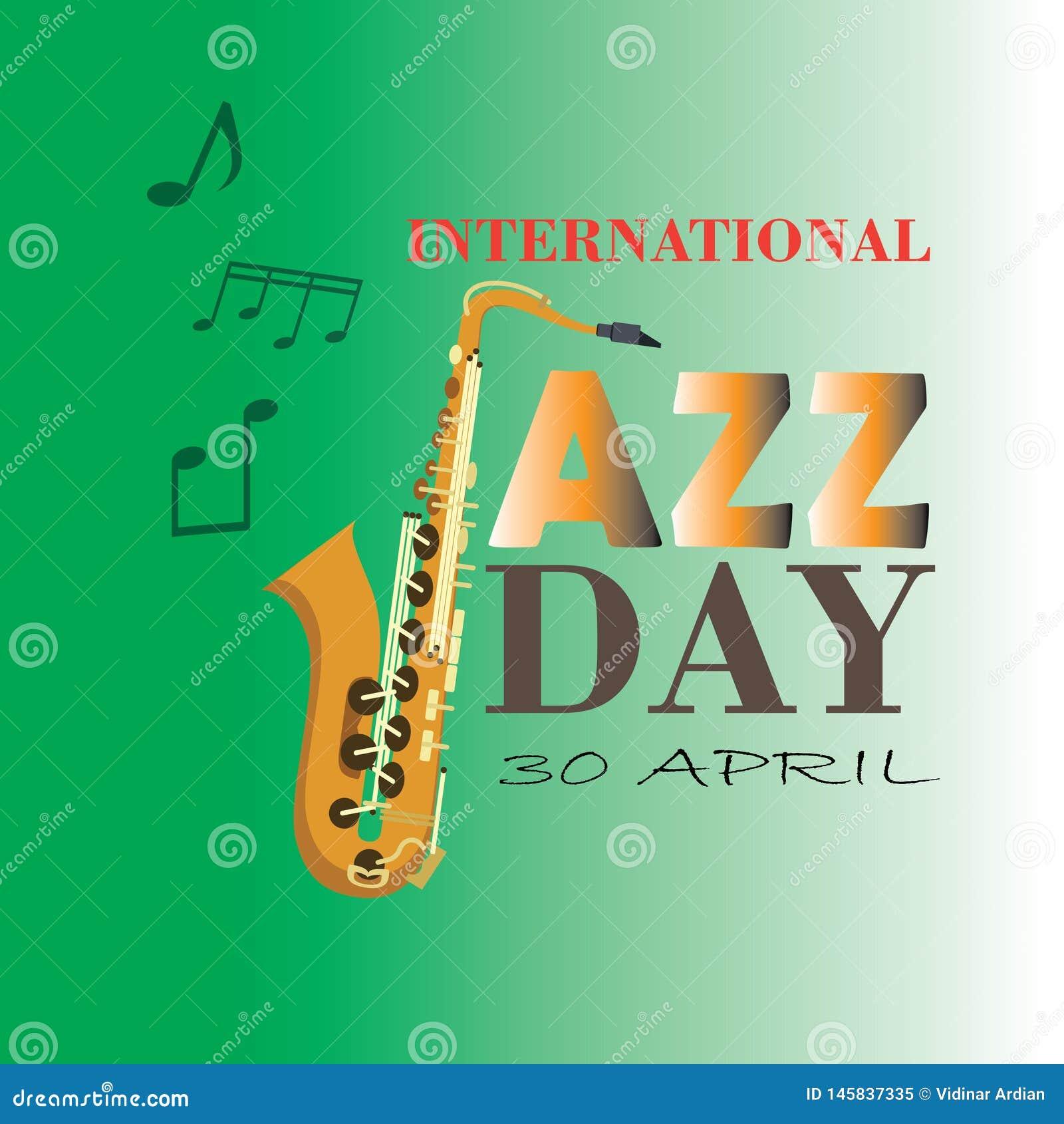 Internationell Jazz Day vektorillustration - Mappen f?r vektorn