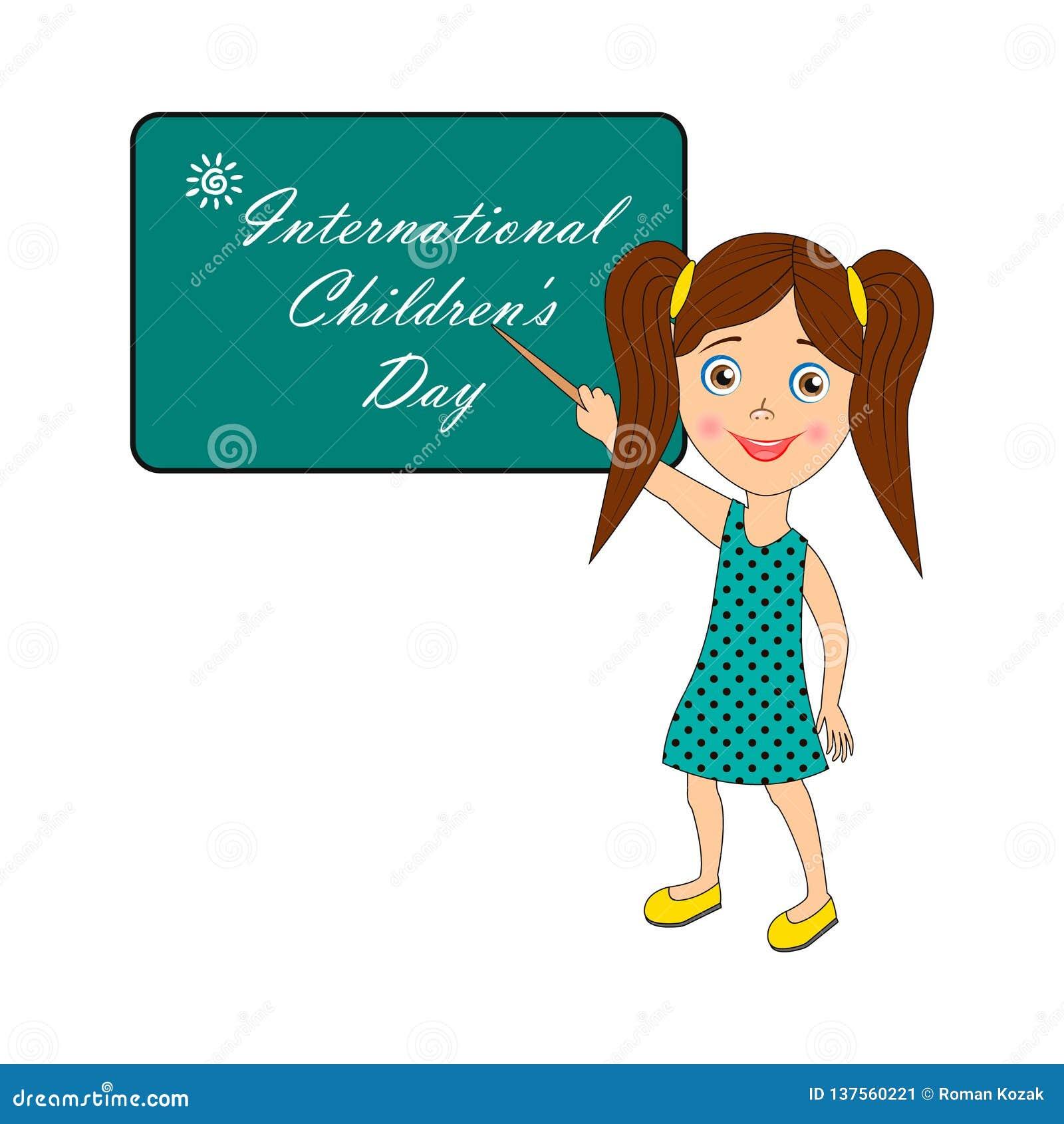 Internationella barns dag - bild med text