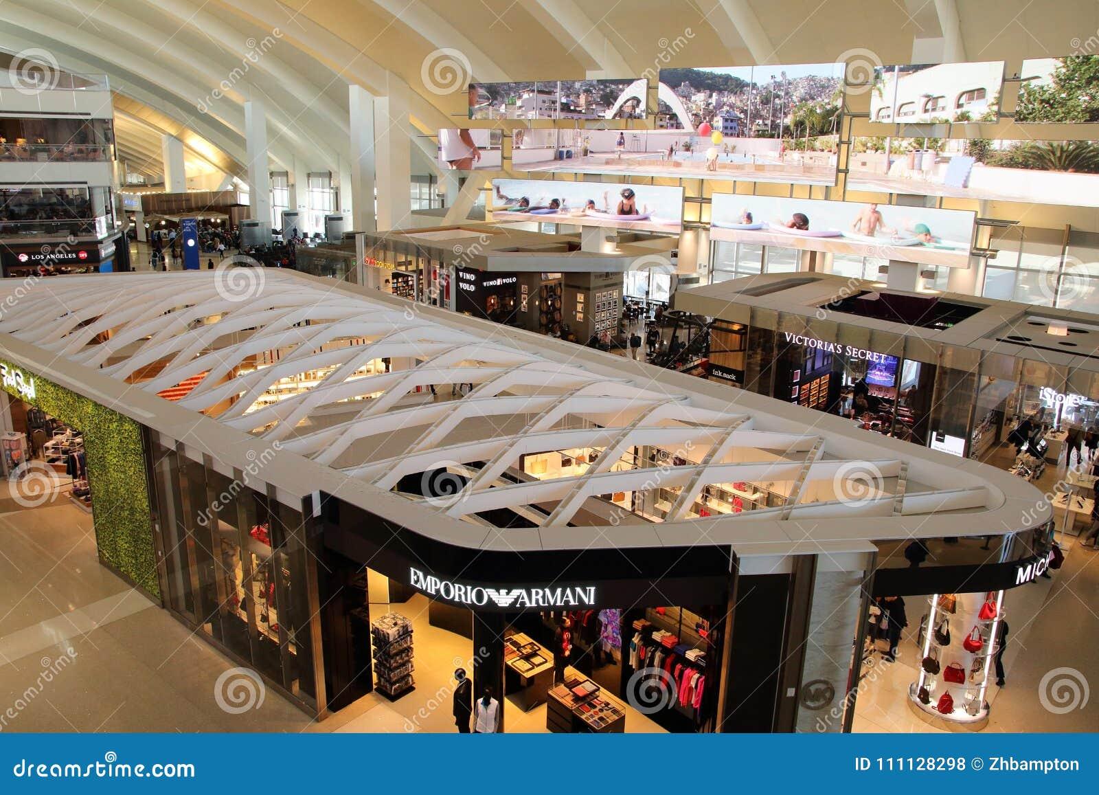 Interne Duty-free-Shops internationalen Flughafens Los Angeless Innenraum Tom Bradley International Terminals