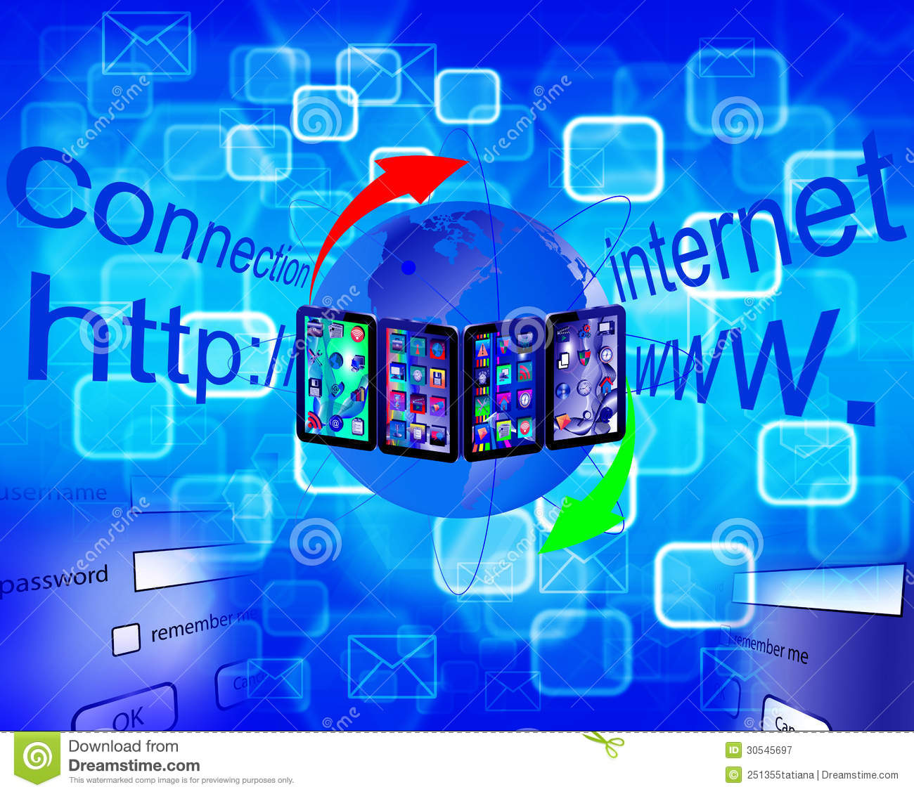 Internet abstraction royalty free stock for Internet plante