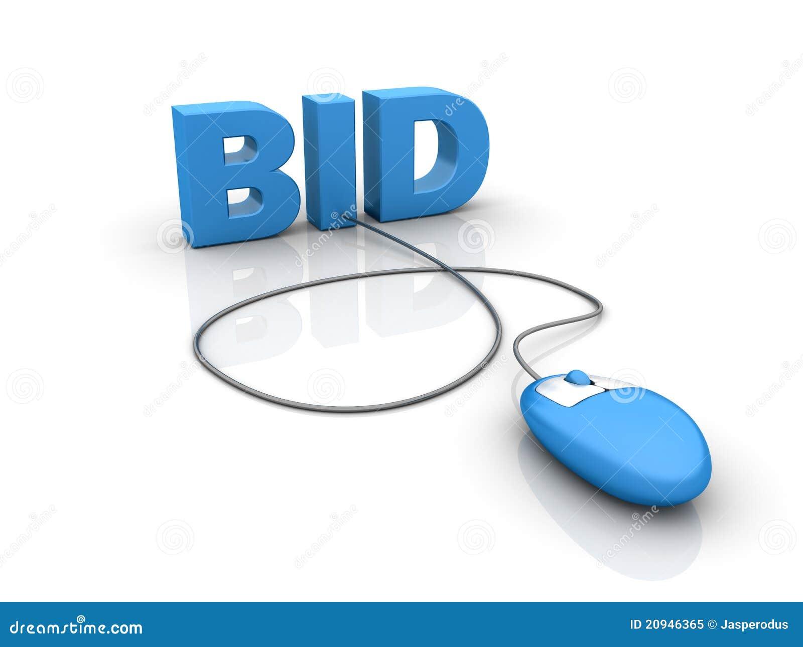 Internet-Auktionangebot