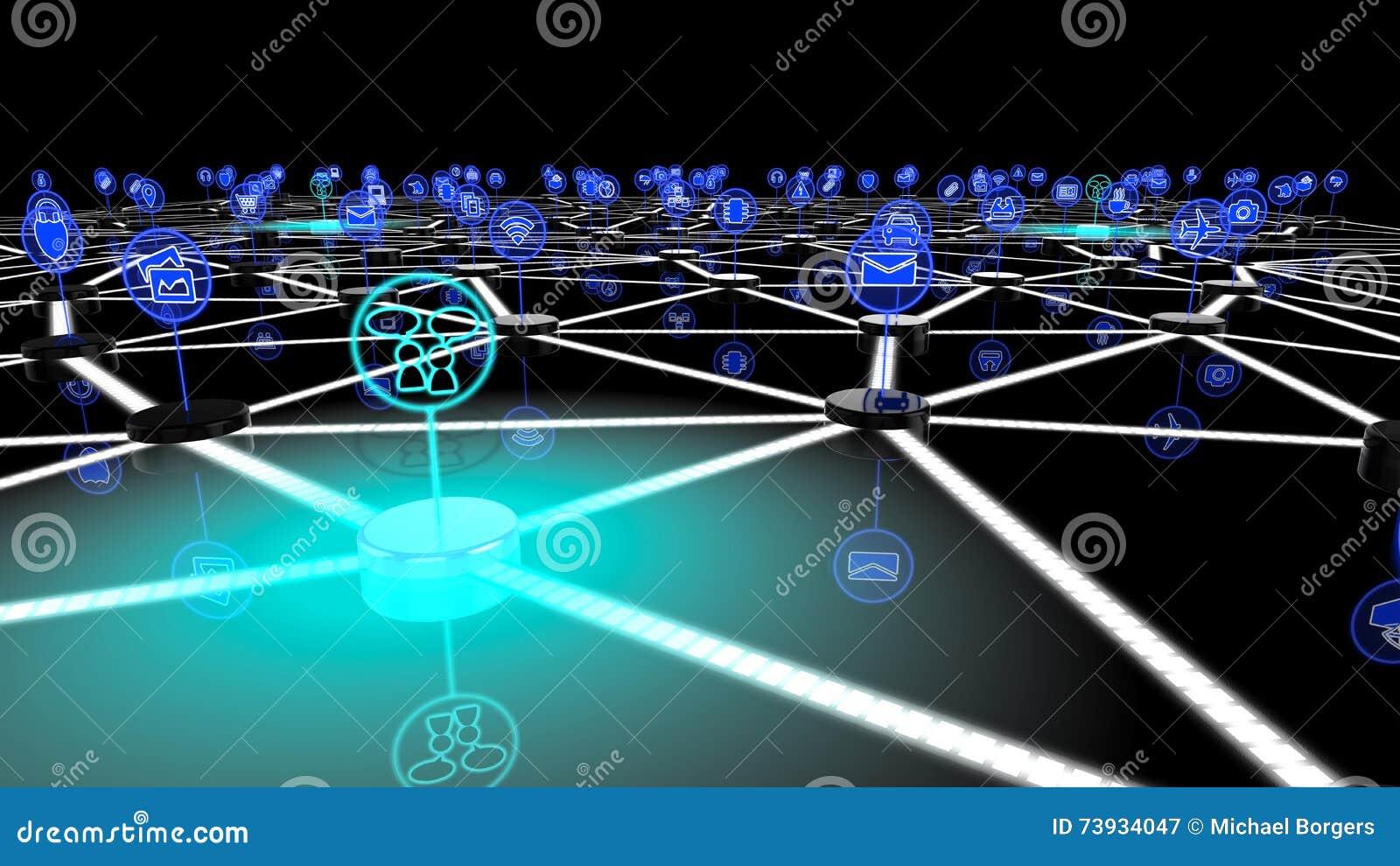 Internet av det sociala nätverket för saker
