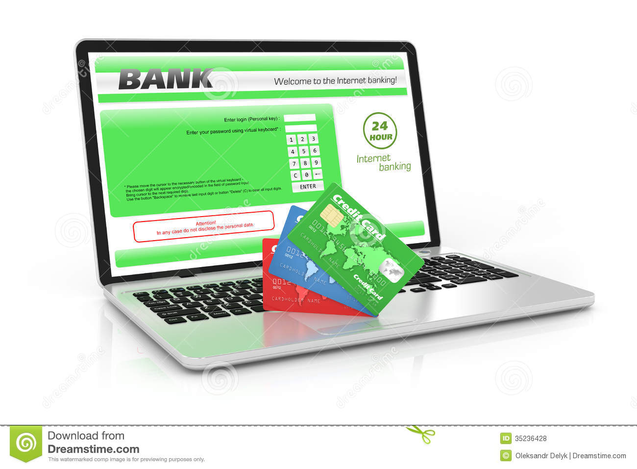 Internet banking service.