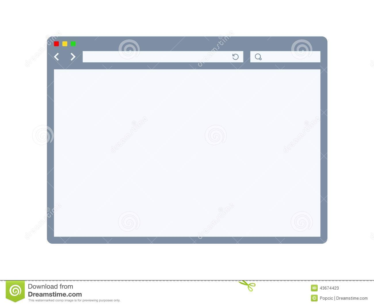 Internet Browser Template Stock Vector