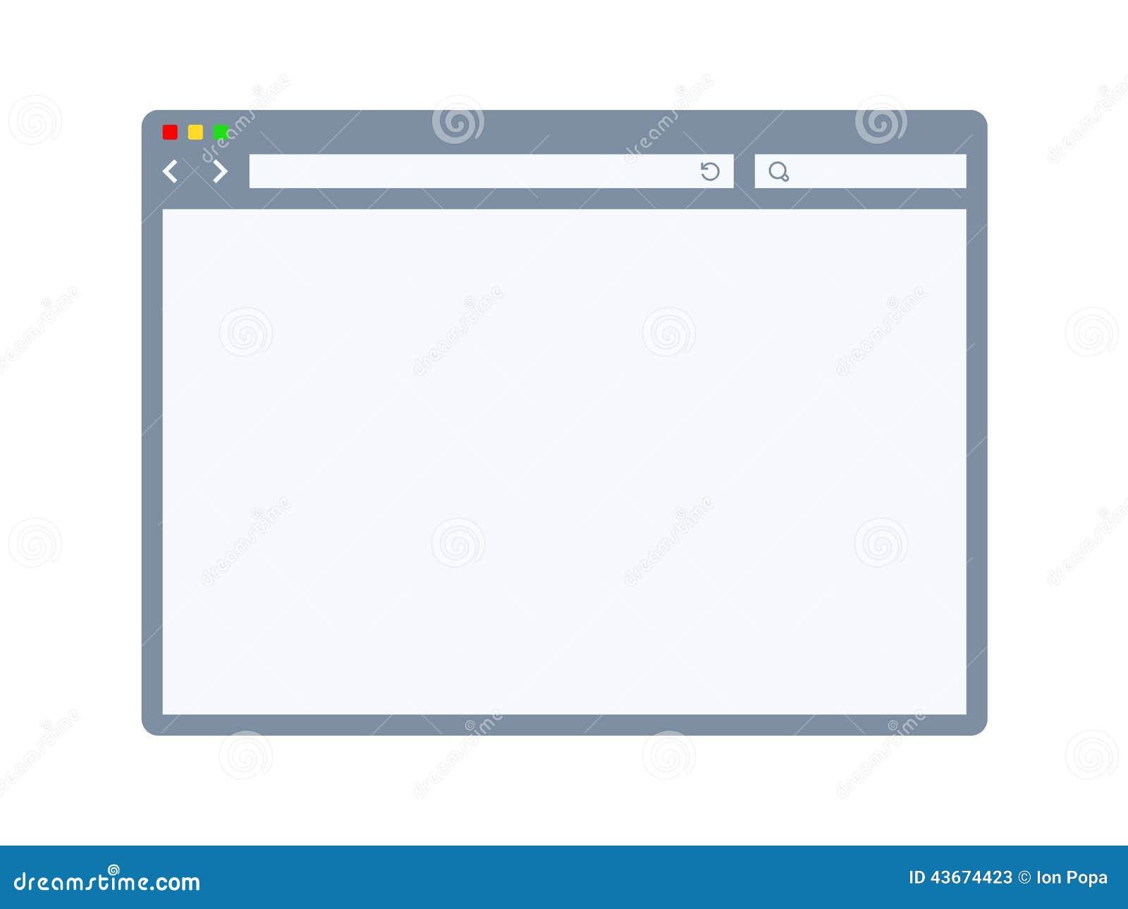 internet browser template stock vector image 43674423. Black Bedroom Furniture Sets. Home Design Ideas