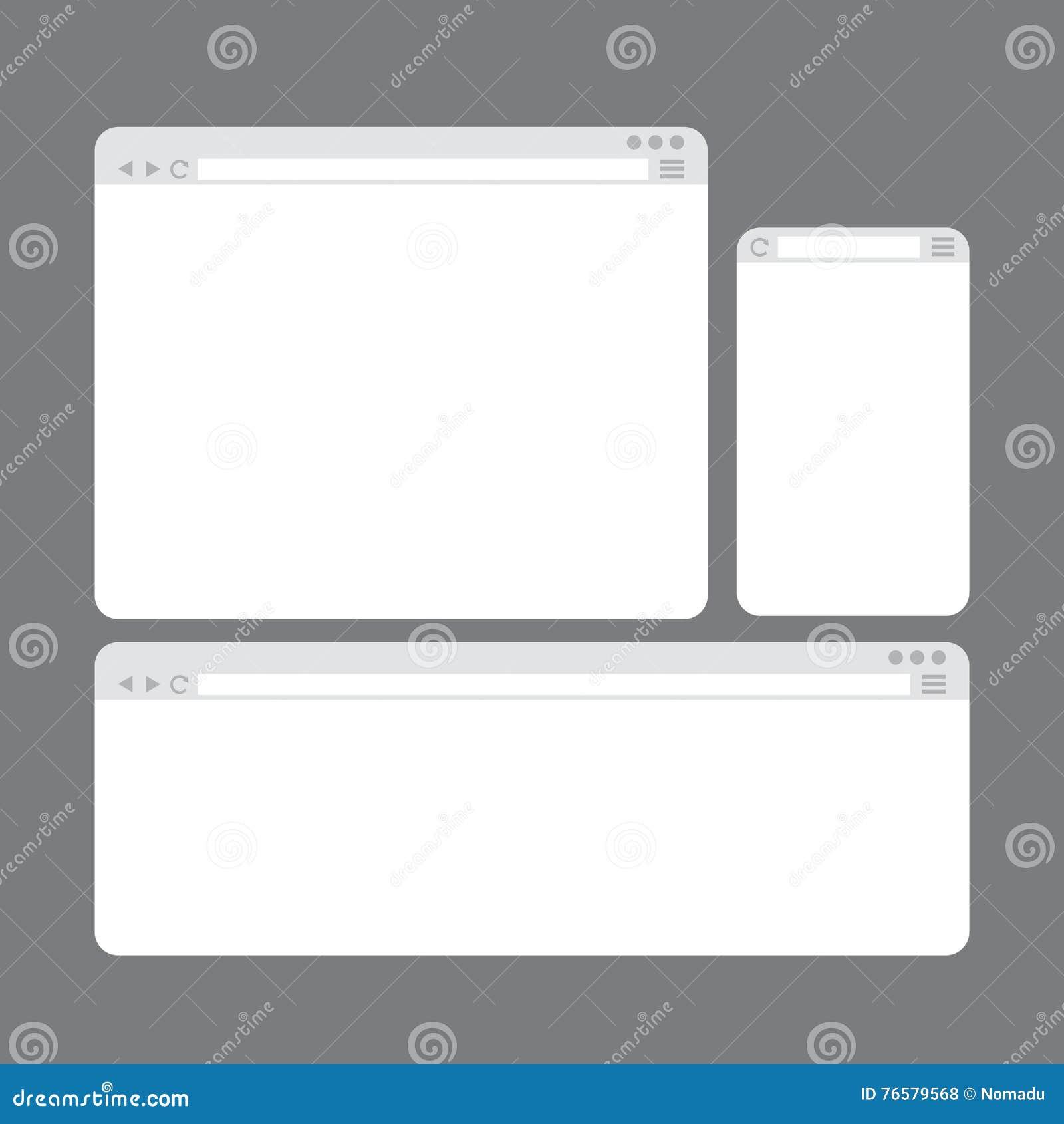 Txt Descargar Internet Browser Window Templates Set Stock