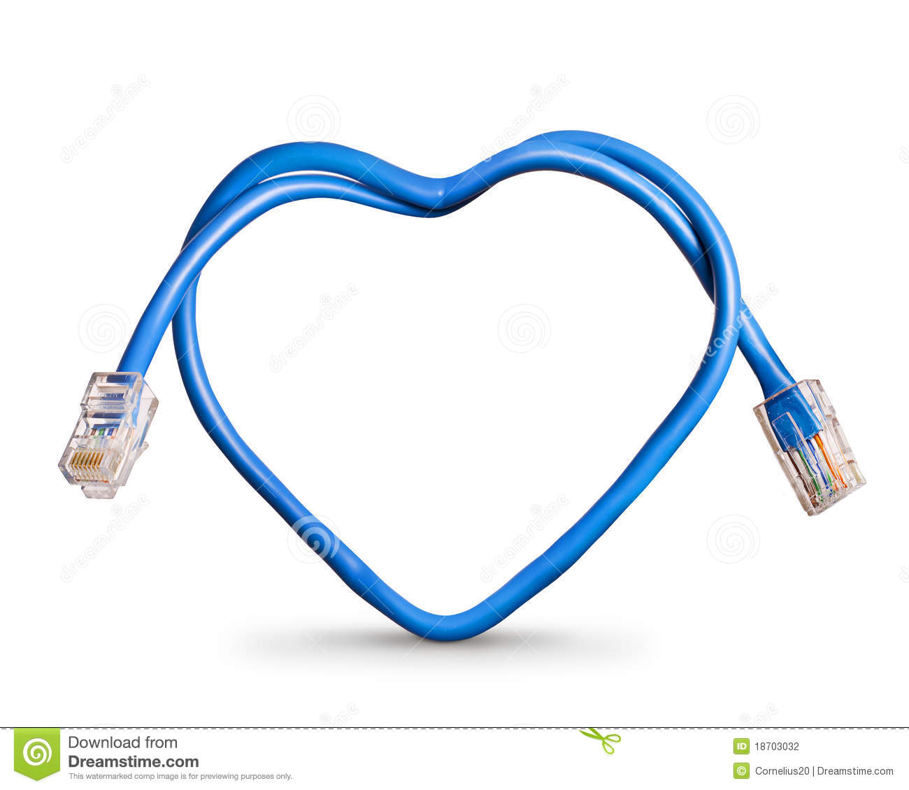 Internet Cable Stock Photography - Image: 18703032
