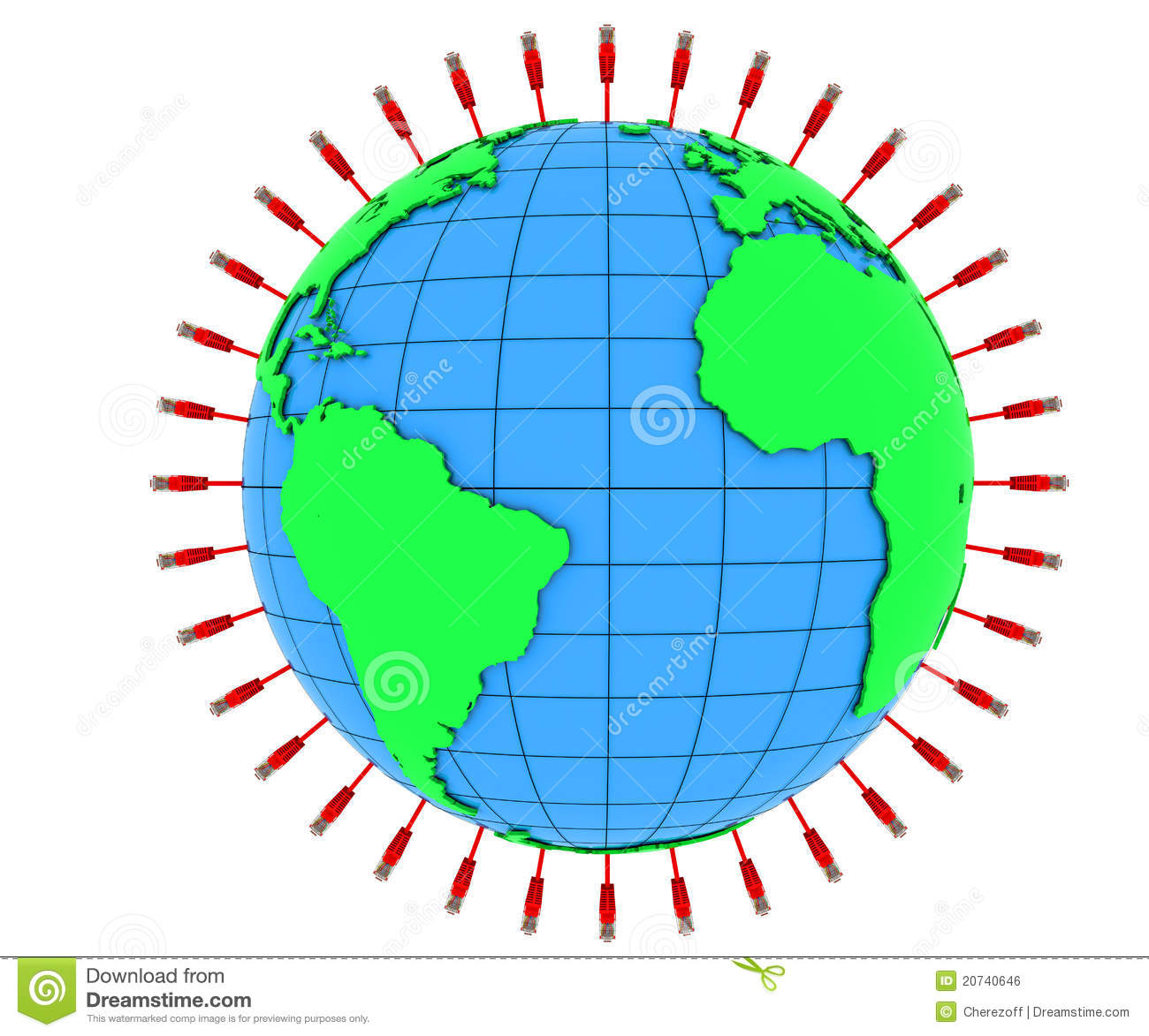 Internet cable and planet earth royalty free stock image for Internet plante