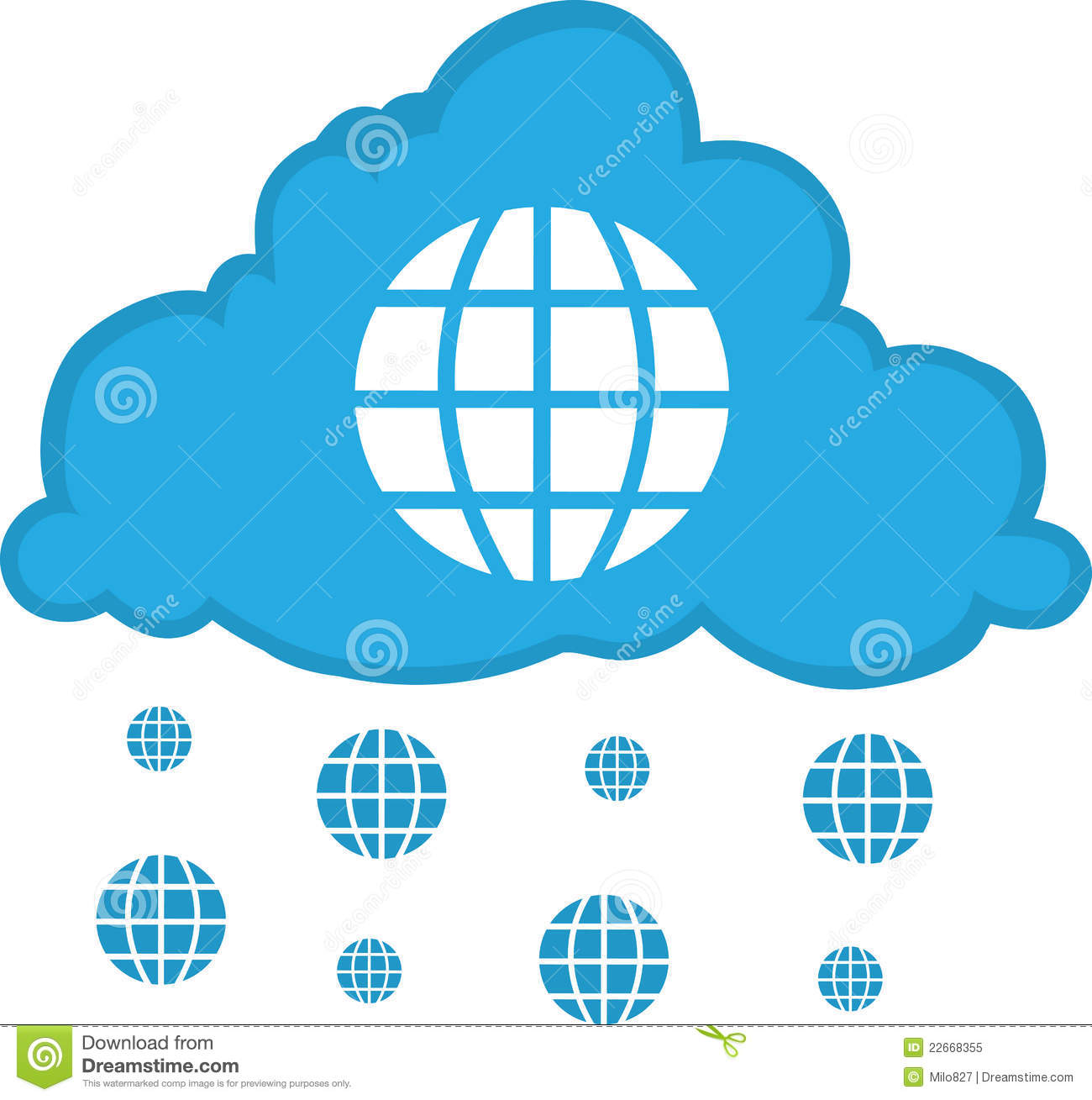 Internet Cloud Royalty Free Stock Photo Image 22668355