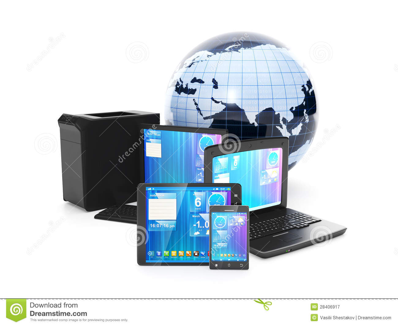 Internet. Connection Mobile Phone, Tablet PC Or Laptop ...