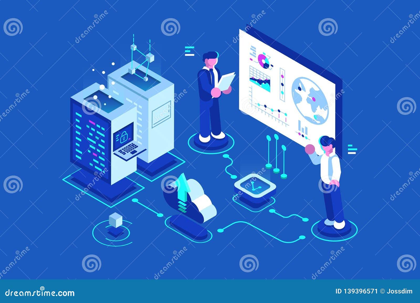 Internet Data Center Stock Vector Illustration Of Administration 139396571