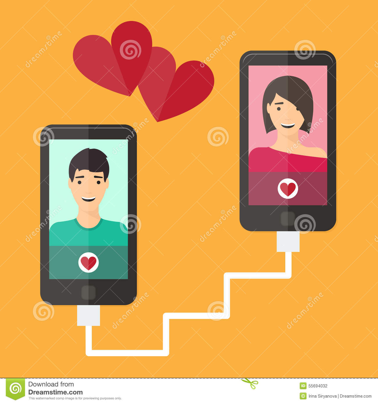 Mobile online dating service