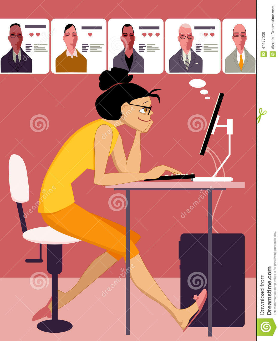 Internet Dating Site Stock Vector - Image: 47477038