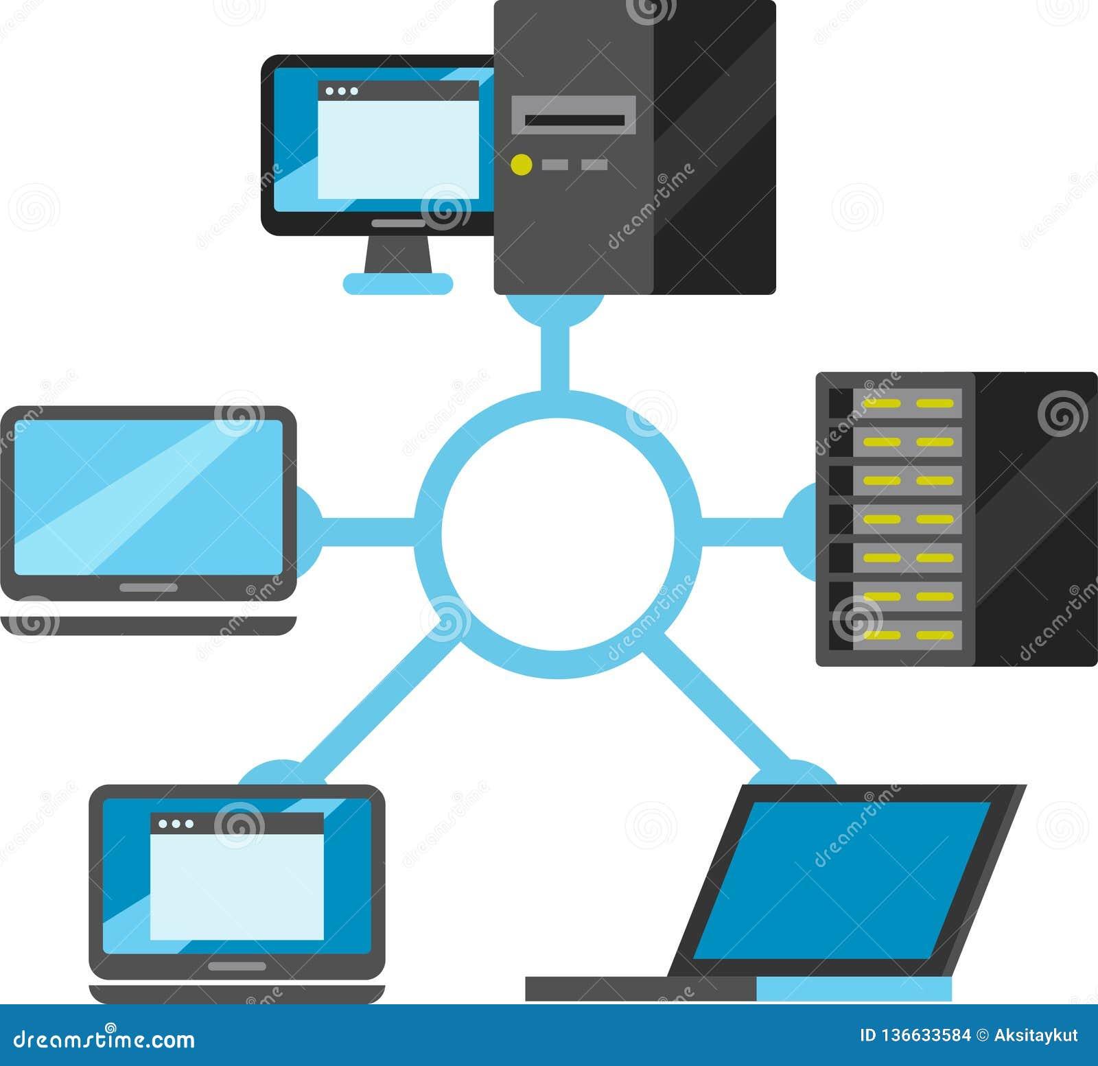 Internet del disegno schematico di connettività di cose