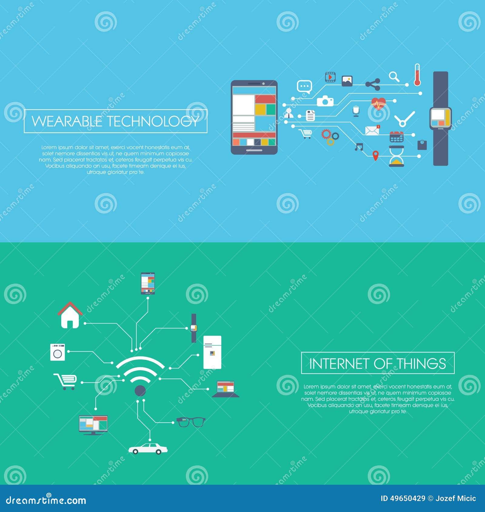 Internet del ejemplo del vector del concepto de las cosas
