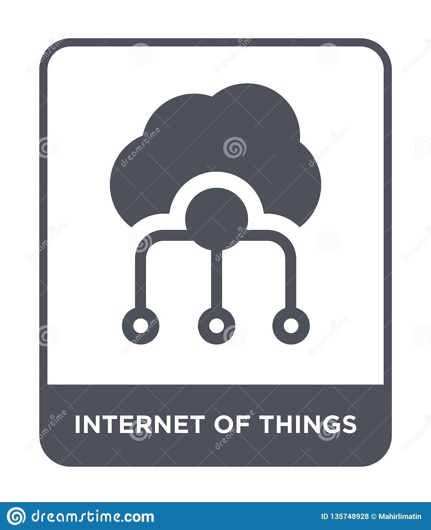 Internet dell icona di cose nello stile d avanguardia di progettazione Internet dell icona di cose isolato su fondo bianco Intern
