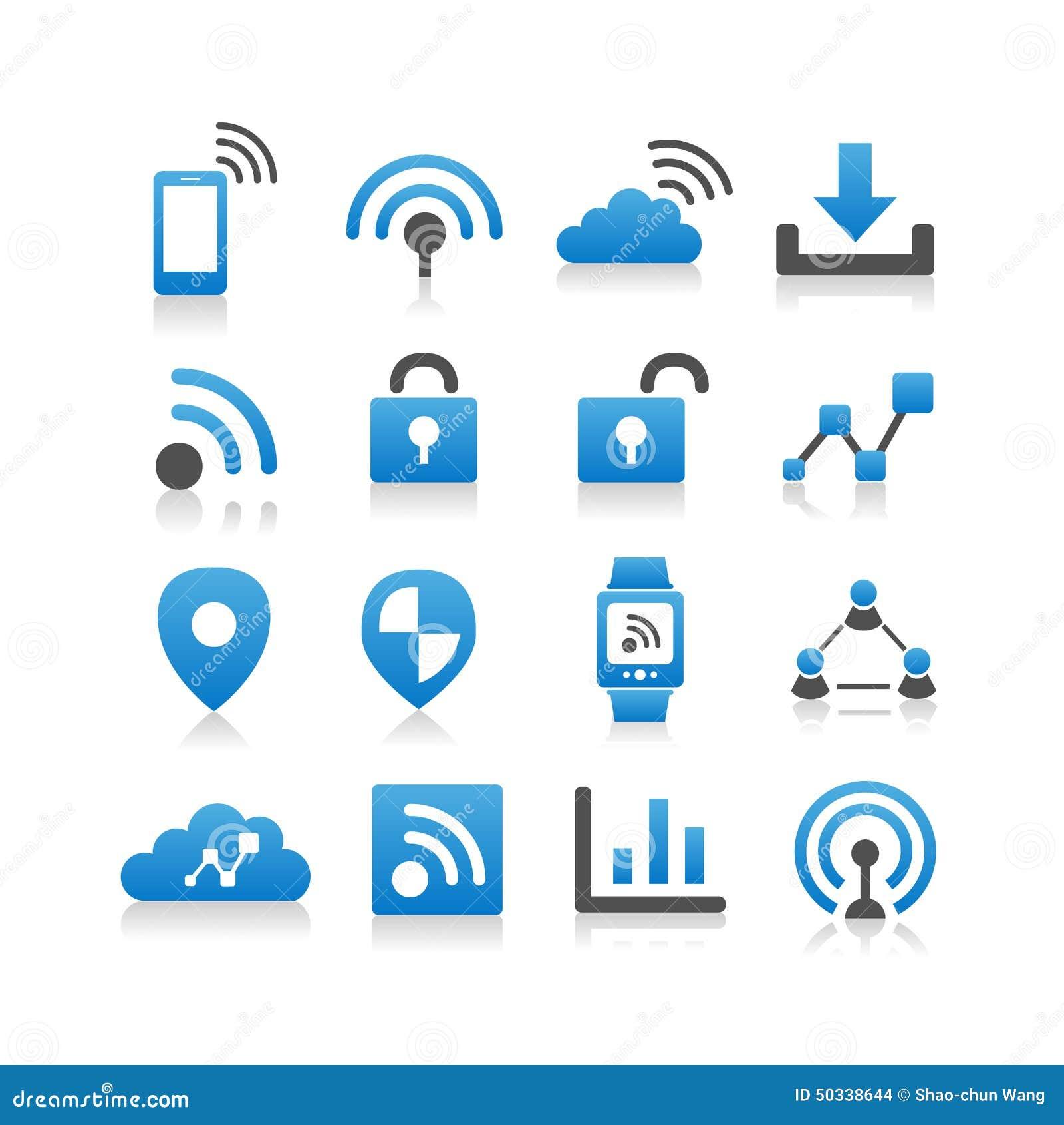 Internet Do 237 Cone Das Coisas Ilustra 231 227 O Do Vetor