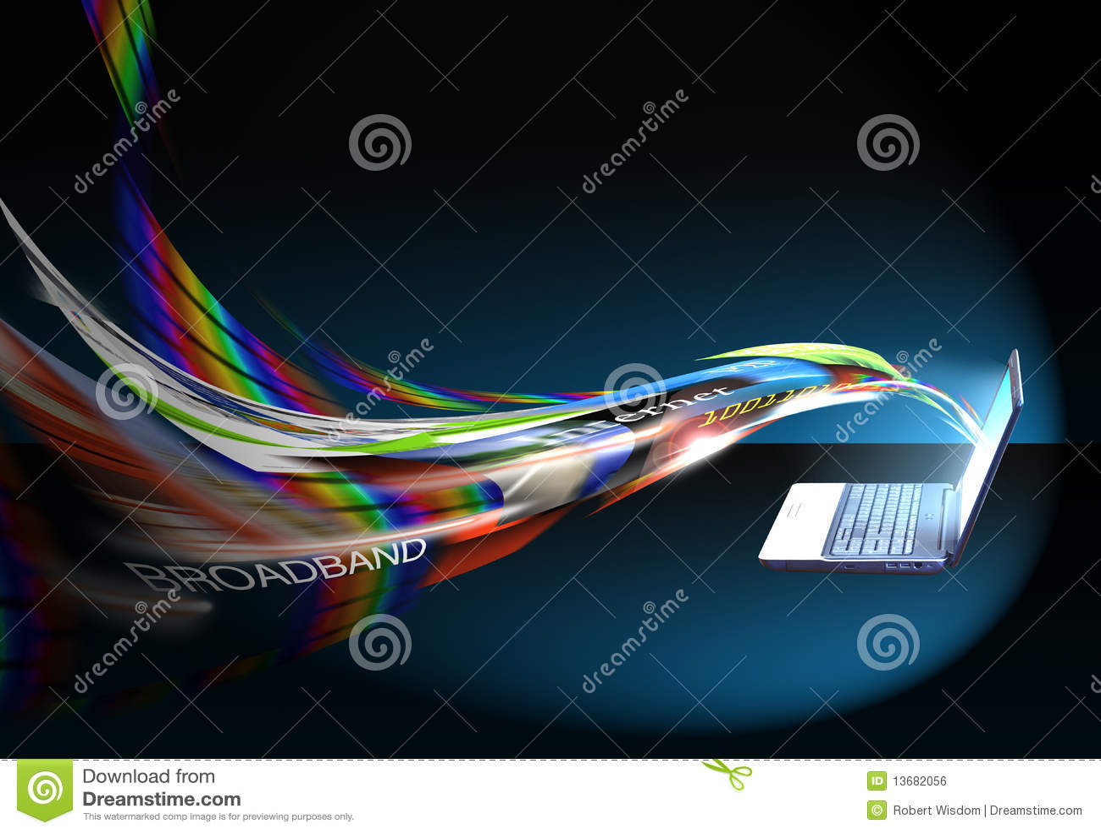 Internet-Drehzahl/Breitband