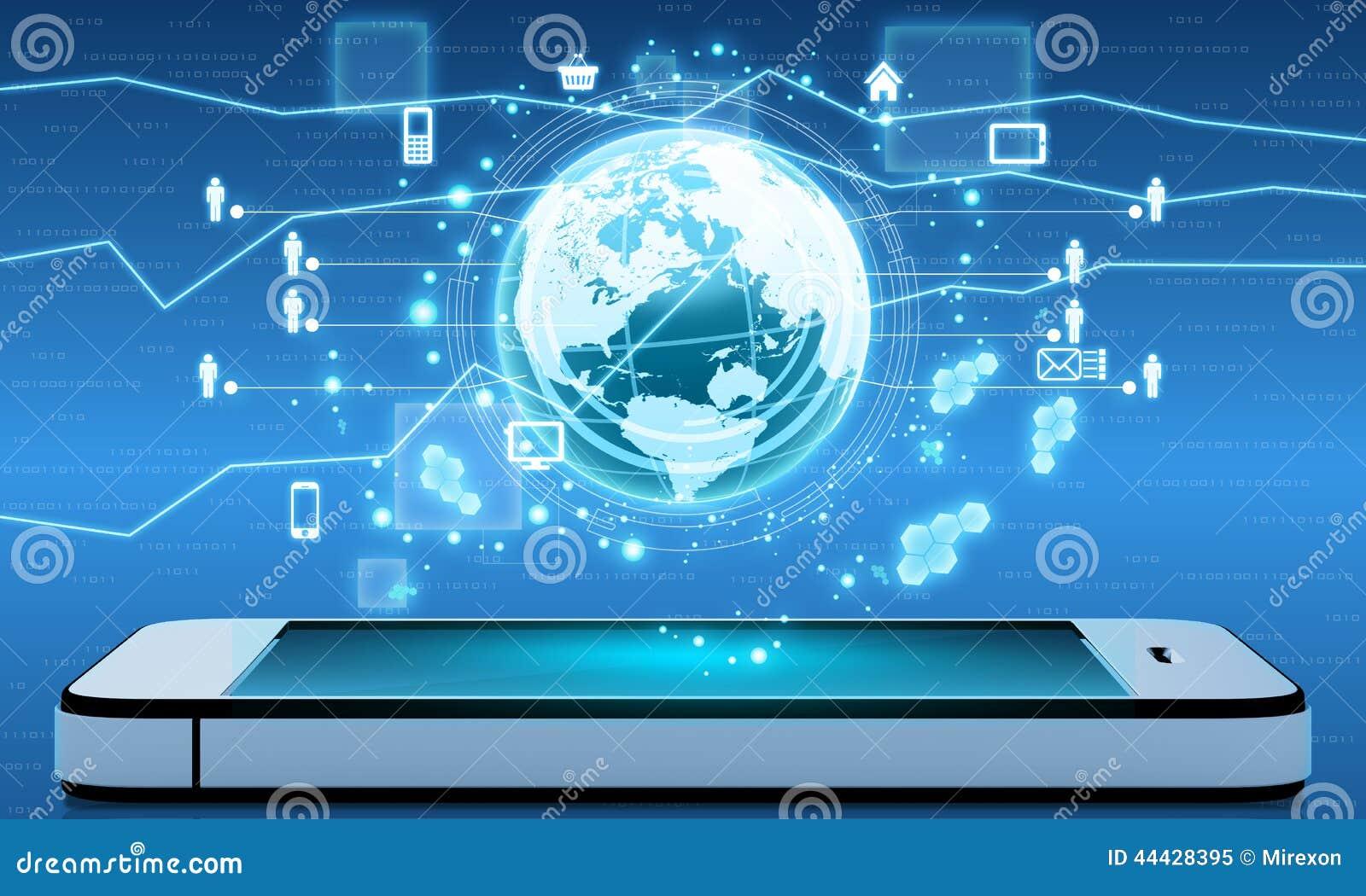 Internet e aplicações móveis em torno do