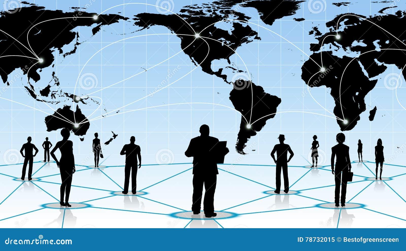 Internet eller affärsidé av det globala nätverket