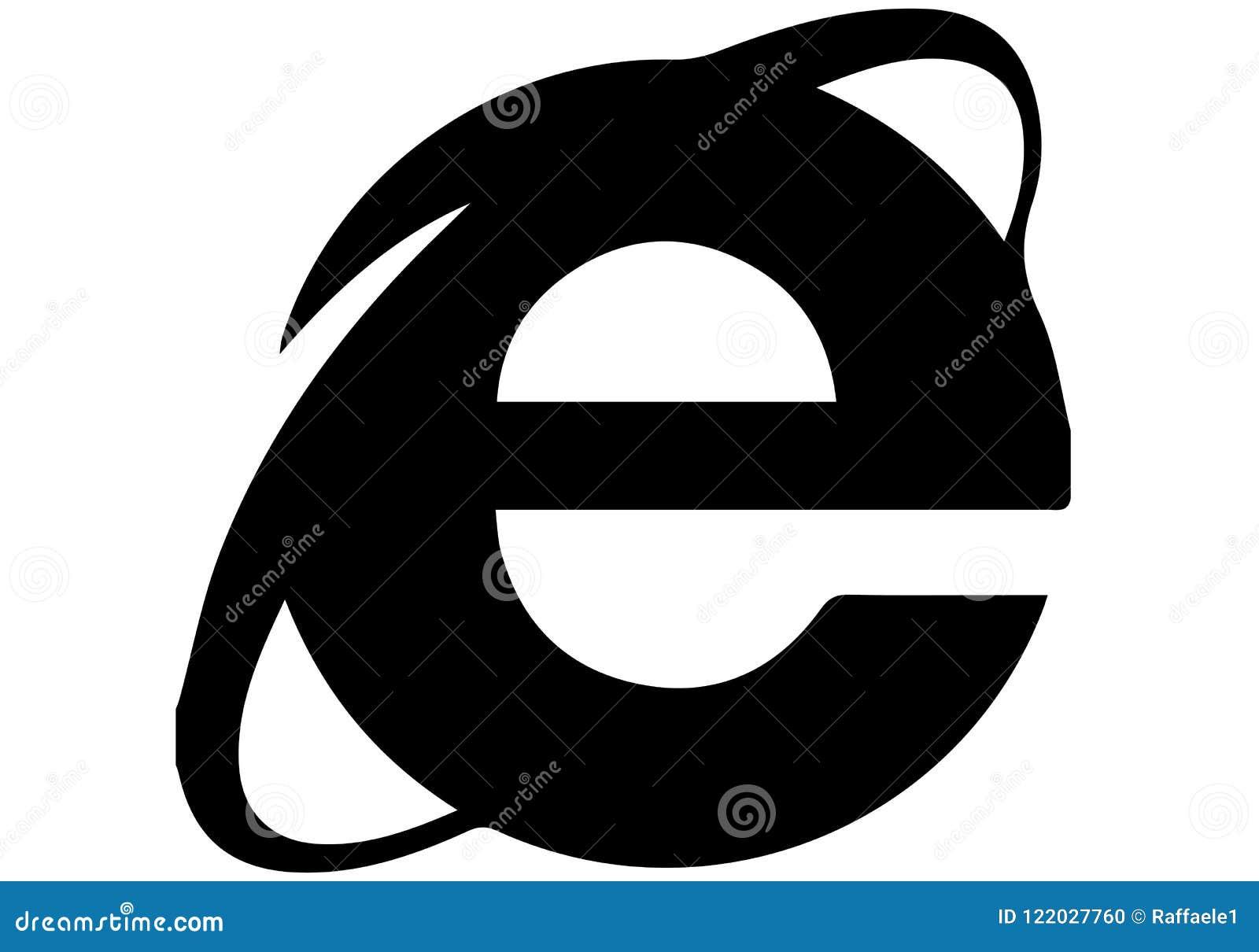 Internet Explorer Icon Logo Editorial Image - Illustration ...