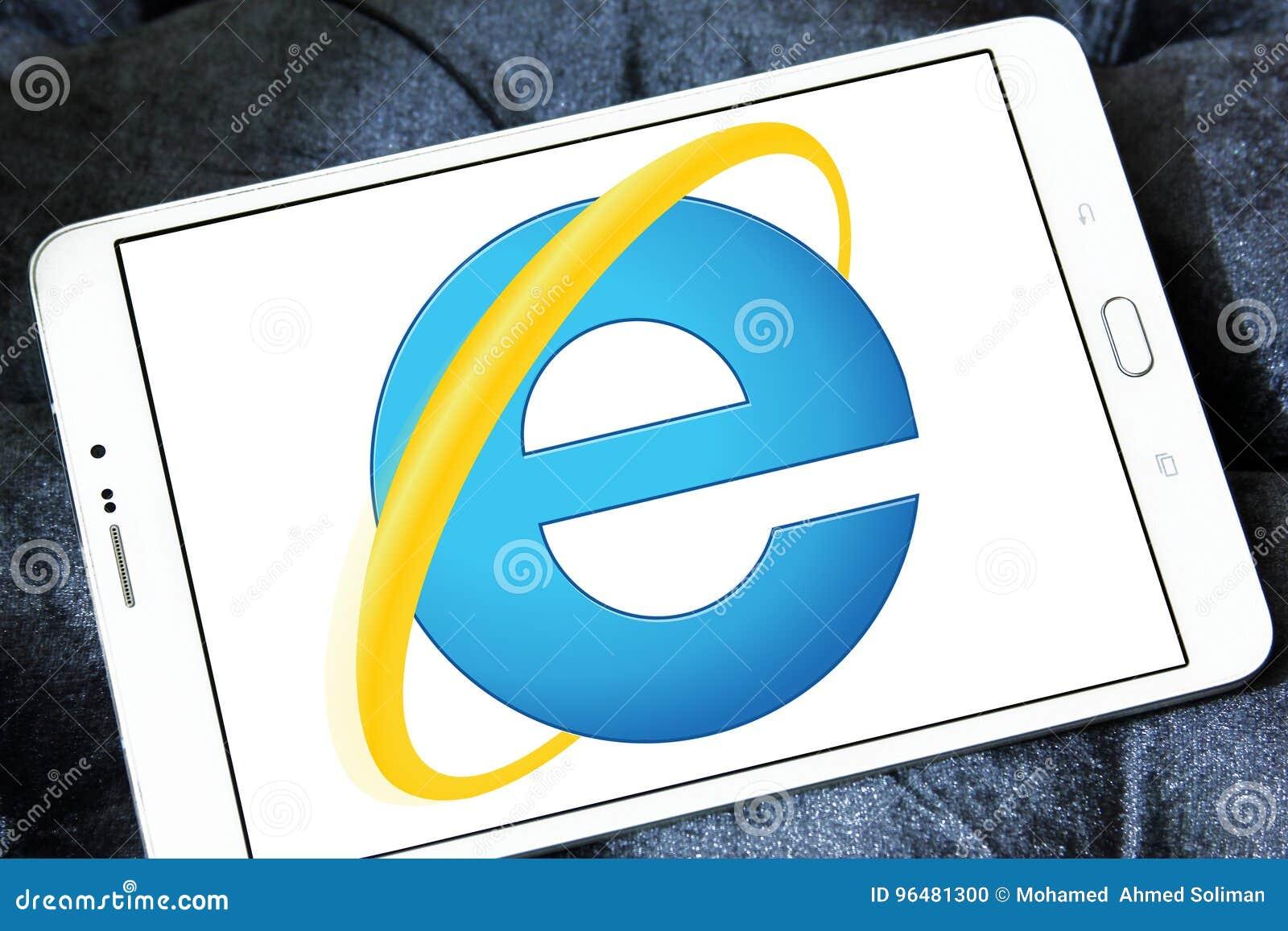 Internet explorer web browser logo editorial photography image.