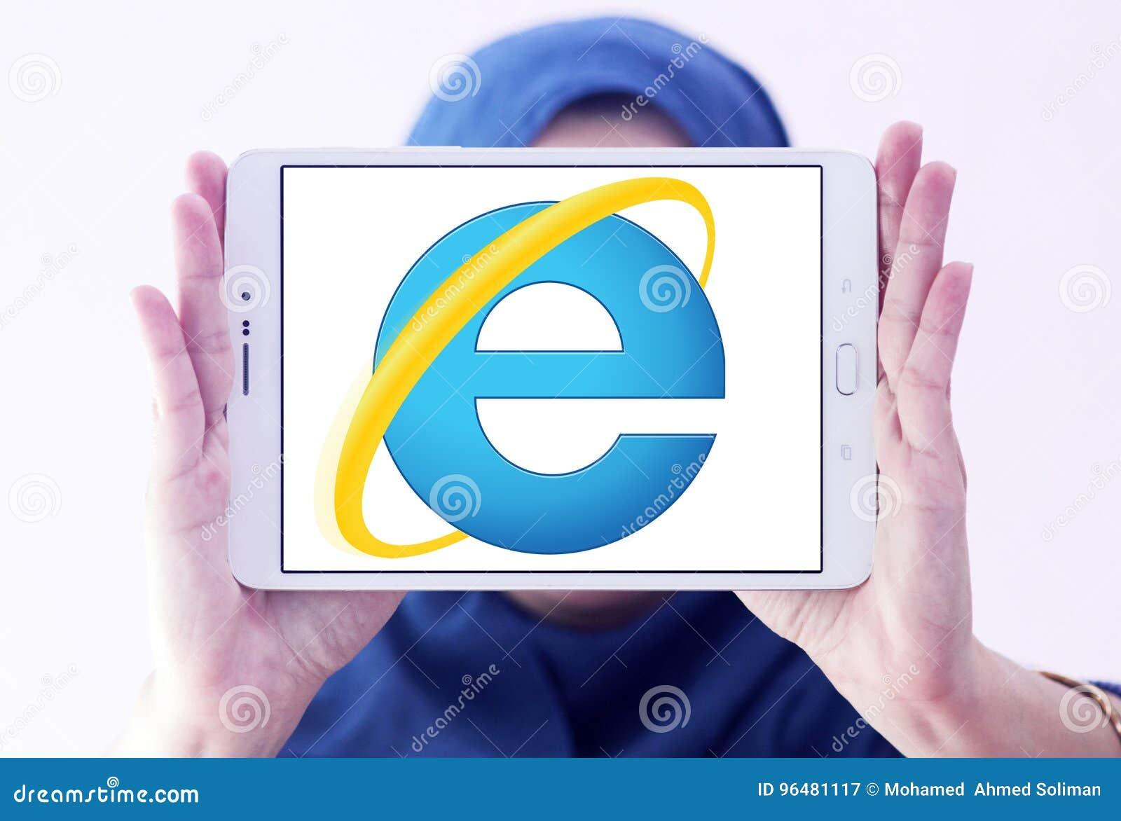 Internet explorer web browser logo editorial stock photo image.