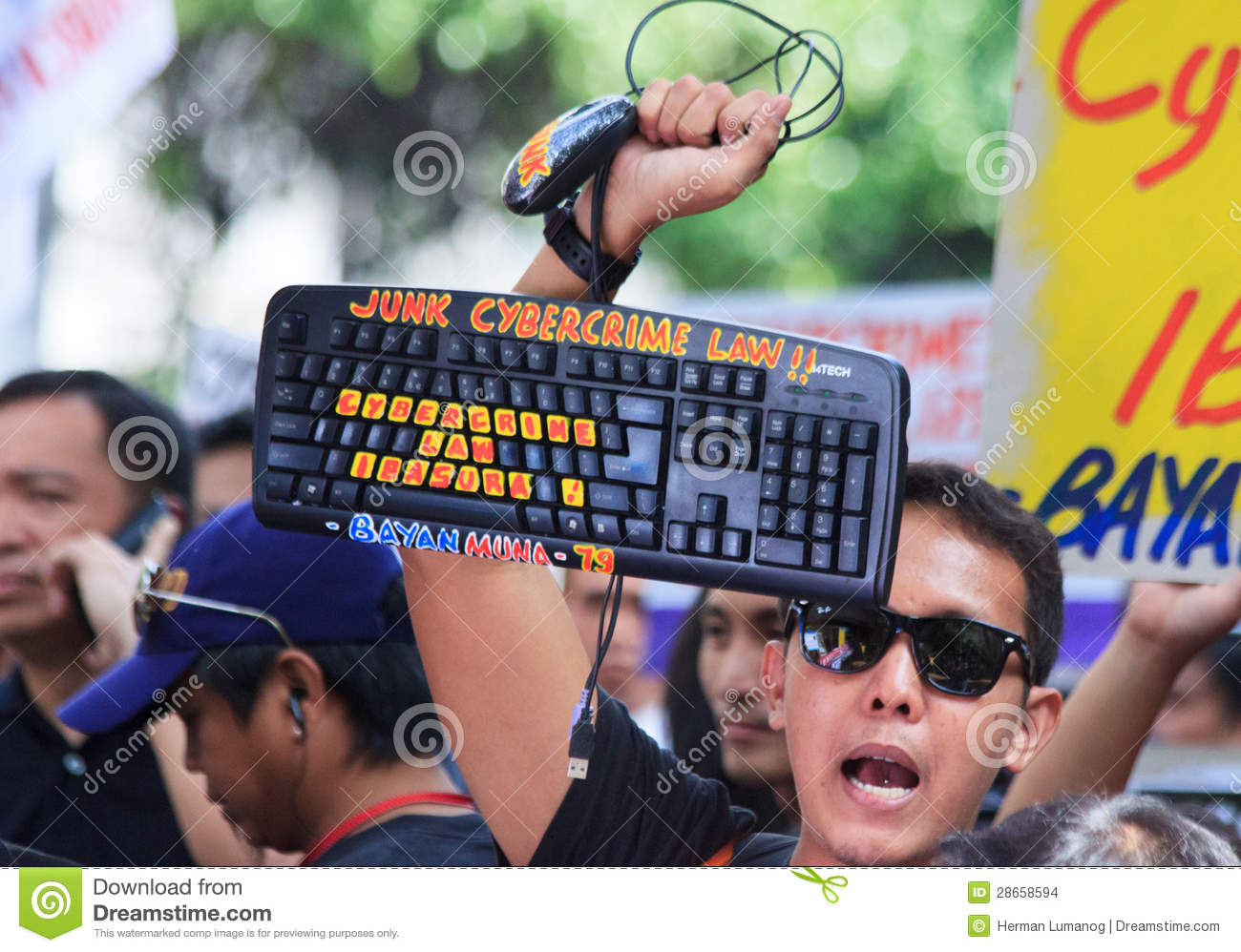 Internet Freedom Law Protest In Manila, Philippines ...