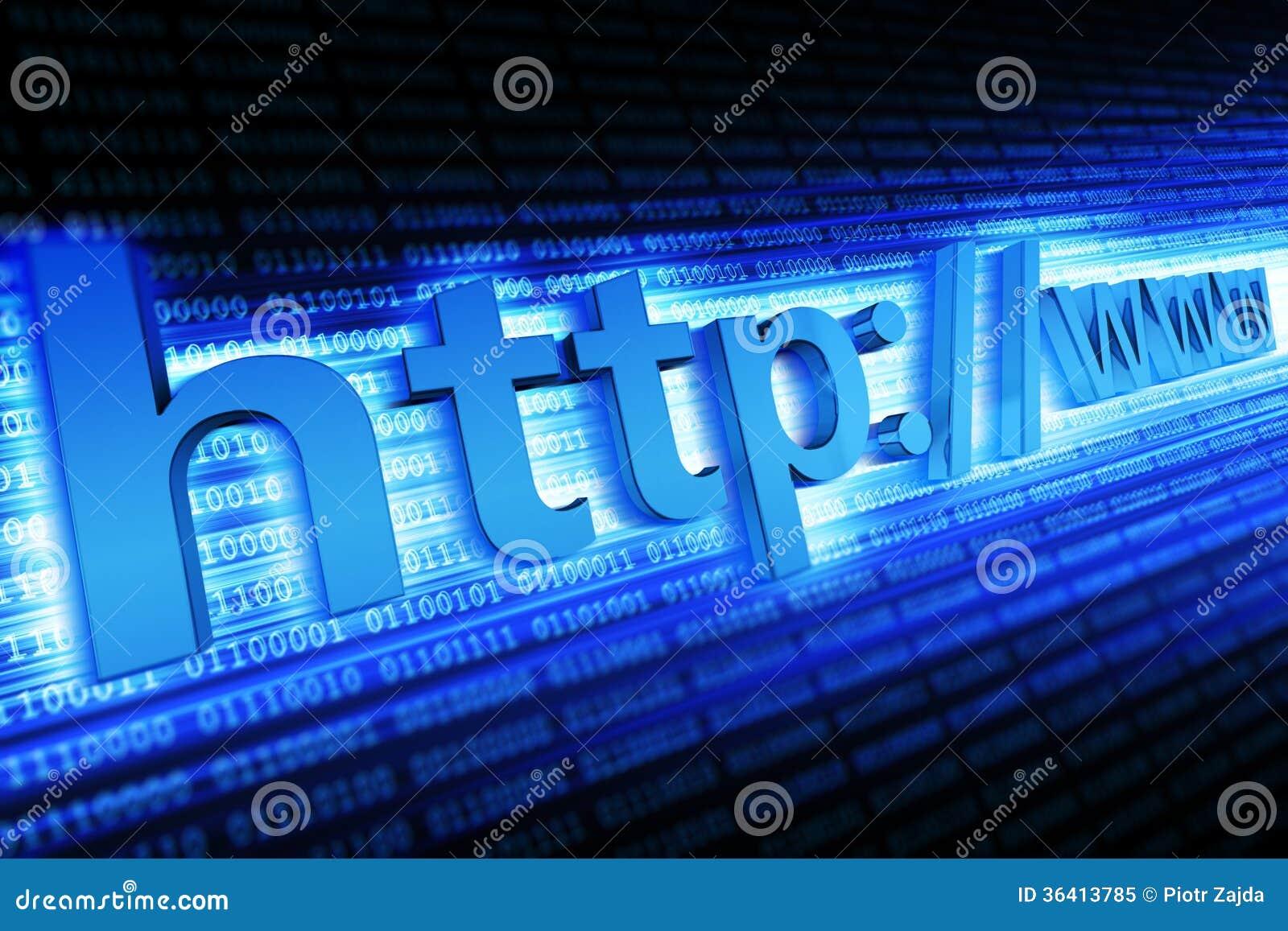 Internet-HTTP-Konzept