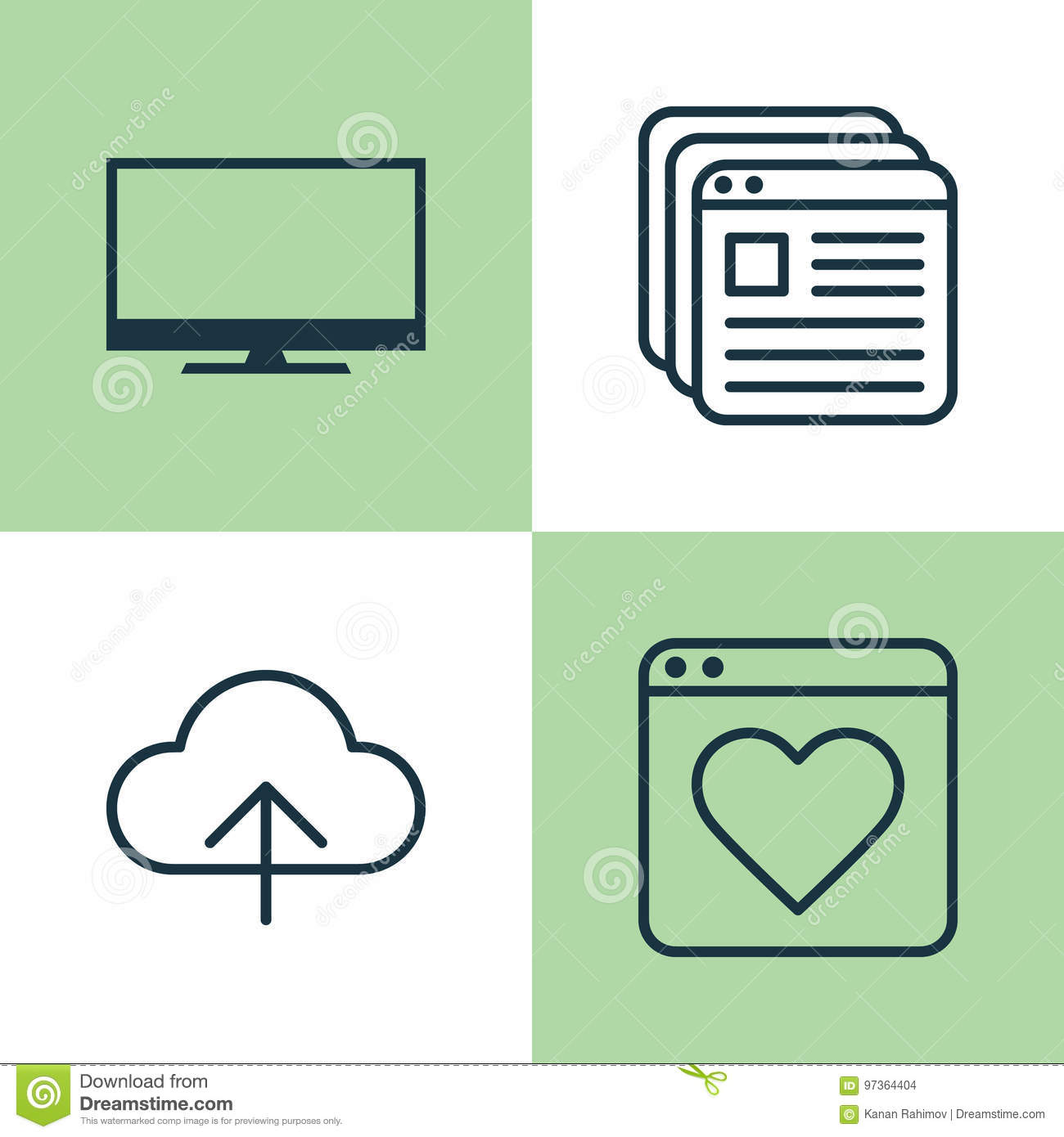 Internet Icons Set Collection Of Bookmark Transfer Display And