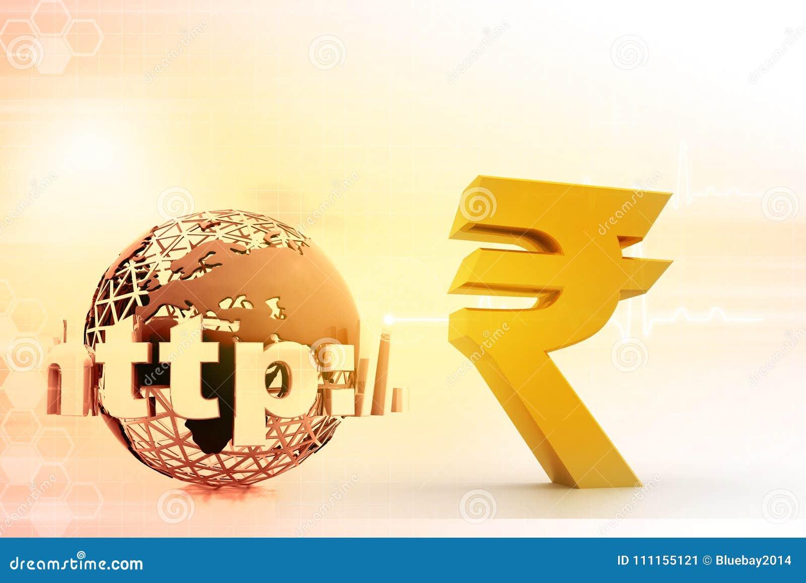 Internet With Indian Rupee Symbol Stock Illustration Illustration