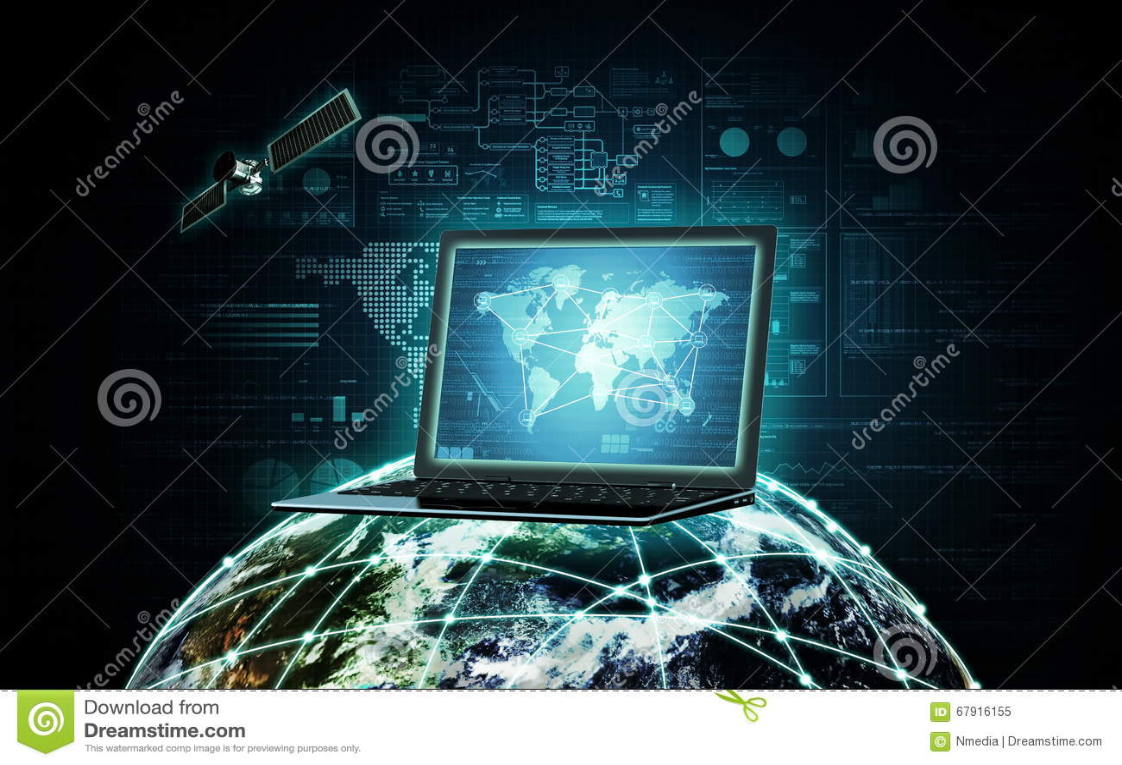 Internet information technology stock photo image 67916155 for Internet plante