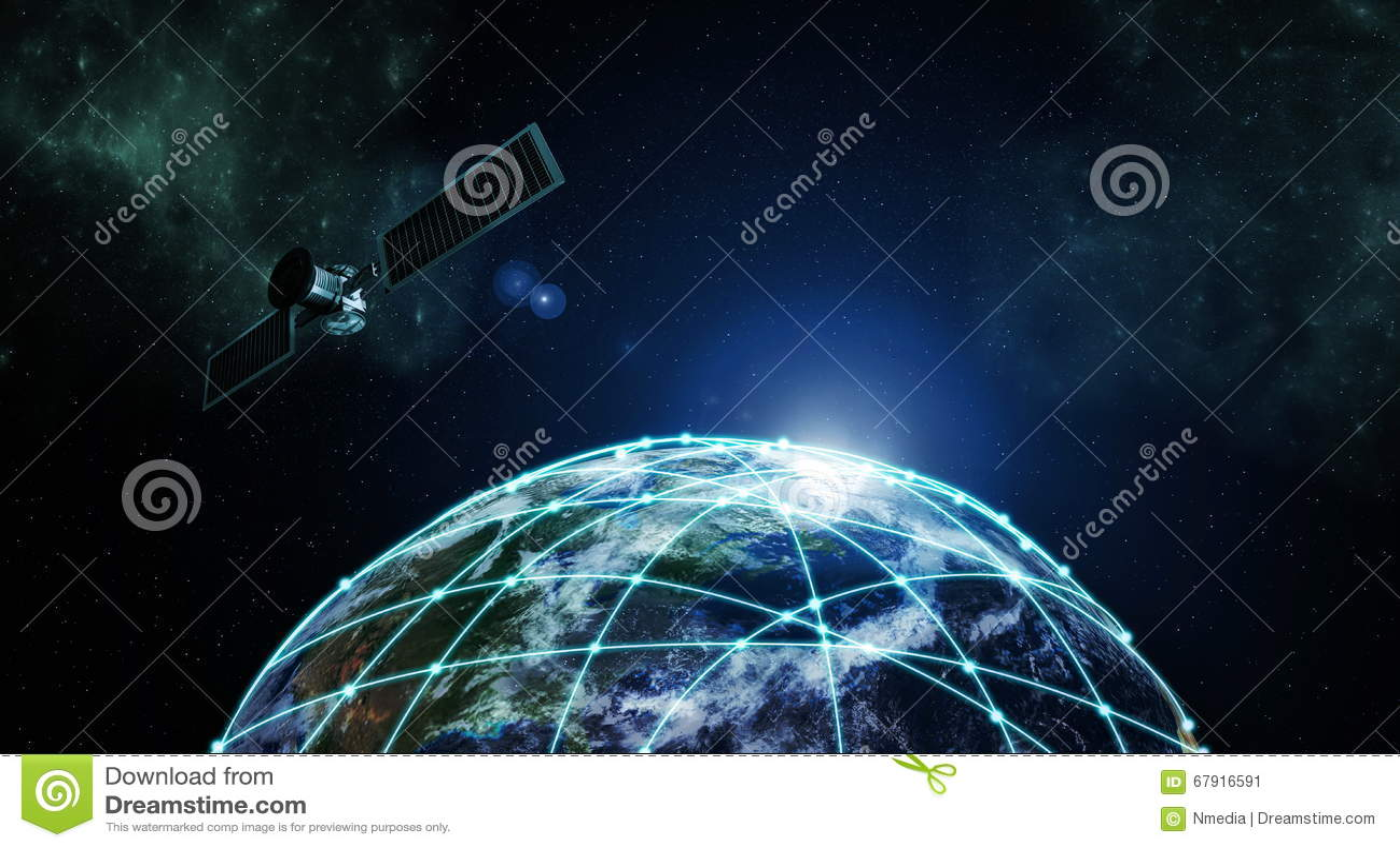 Internet information technology stock illustration for Internet plante