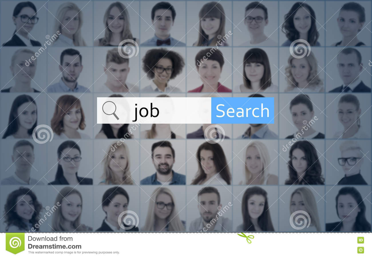 internet and job search concept search bar over collage of peo internet and job search concept search bar over collage of peo stock photo image 74678482