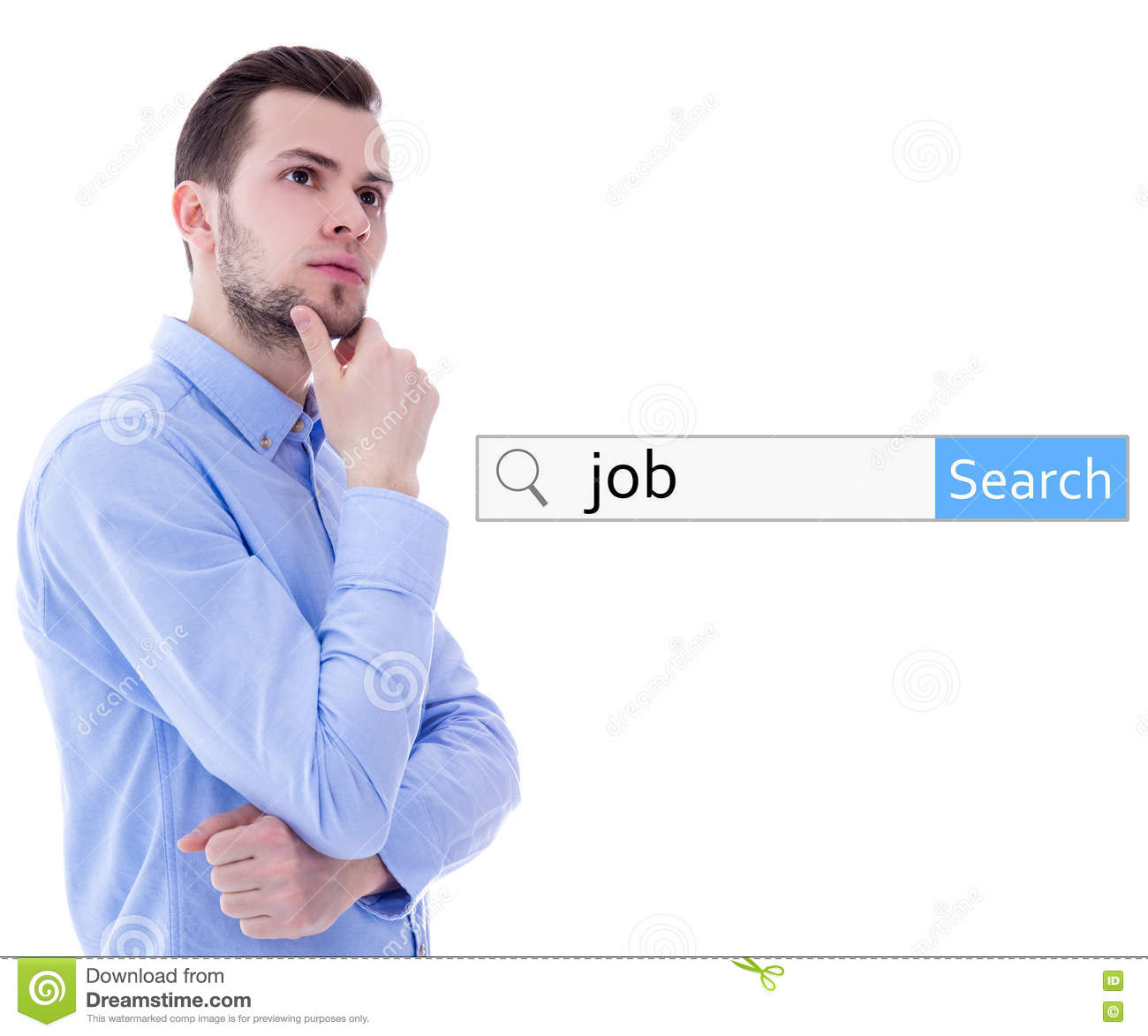 internet and job search concept search bar word job and y internet and job search concept search bar word job and y