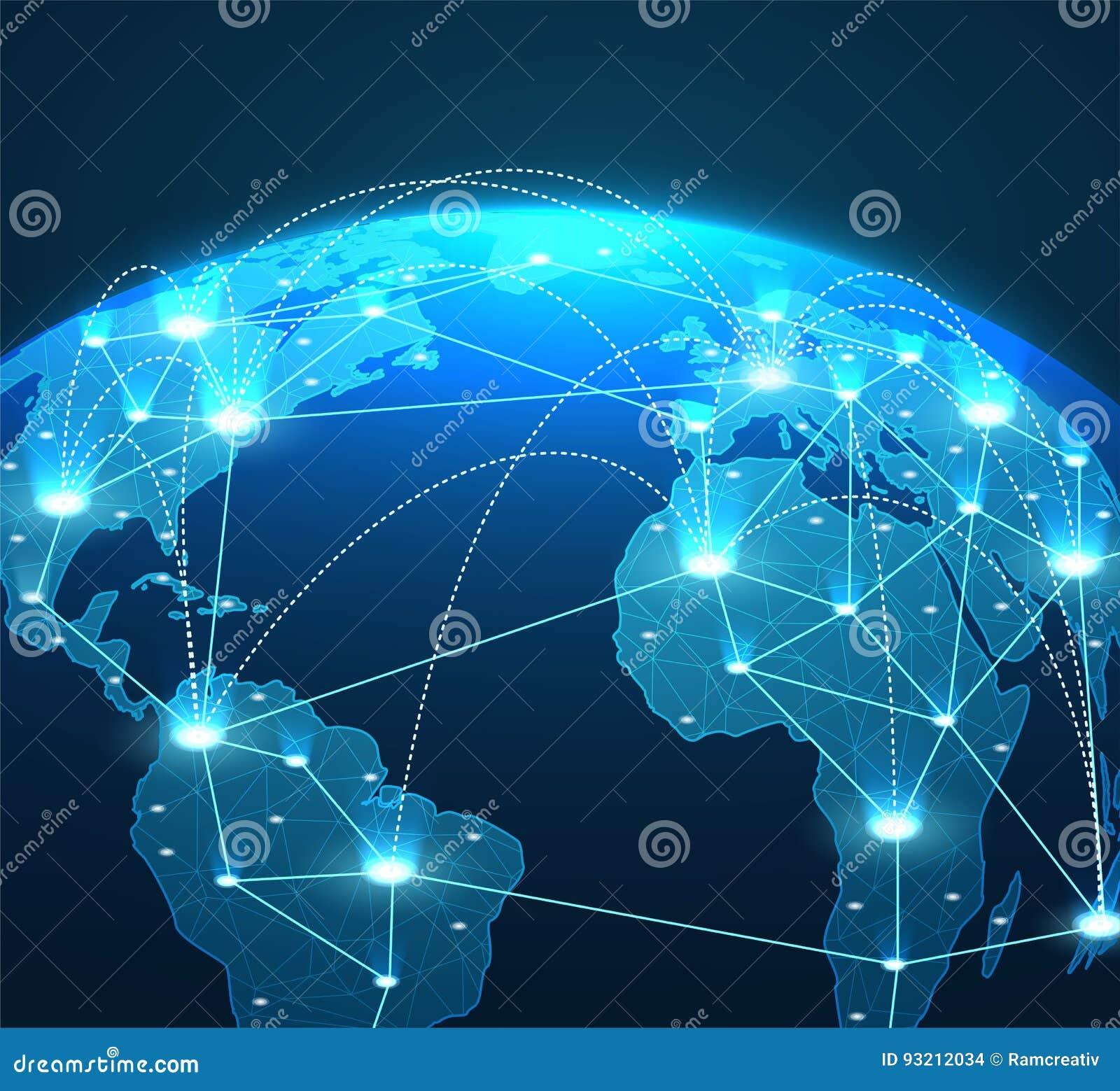 Internet Konzept Von Verbindungen Von Linien Und Von