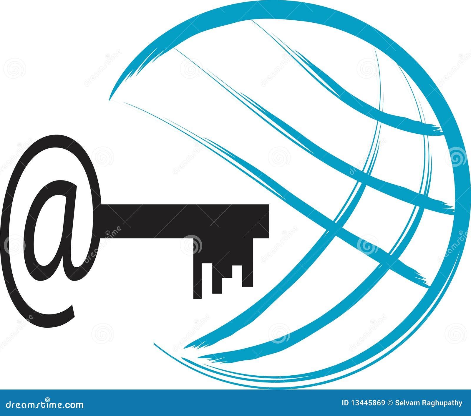 Internet Logo Stock Vector Image Of Beautiful Brush