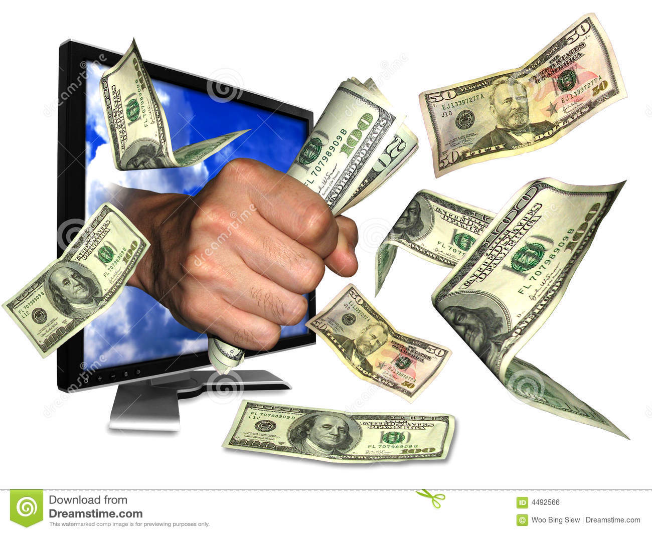 Download Internet money stock photo. Image of flow, banking, financial - 4492566