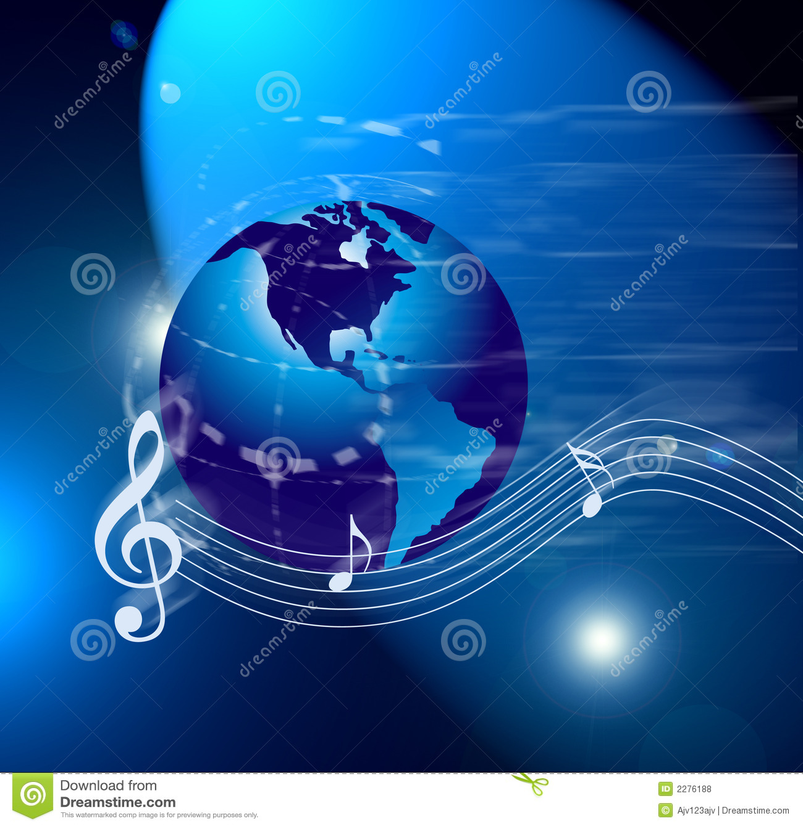Internet Music World Notes Royalty Free Stock Photos - Image: 2276188