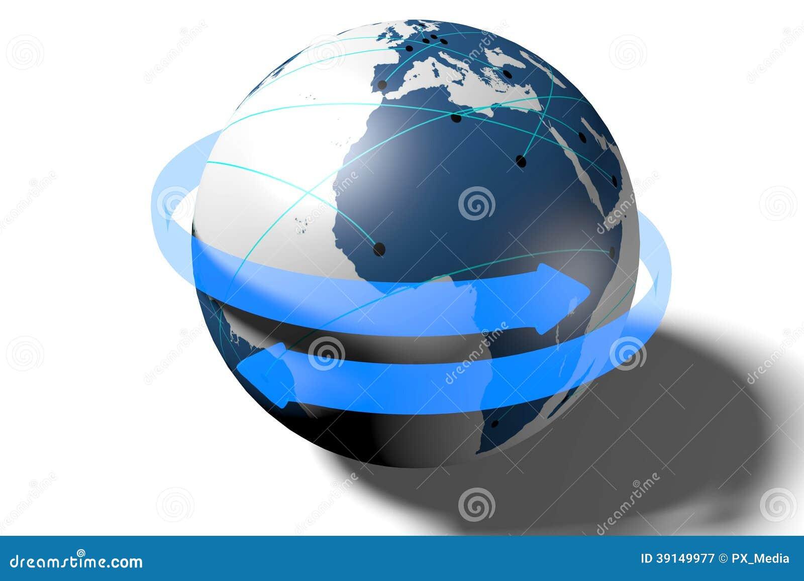 Internet nätverk som är globalt, överföring, anslutning