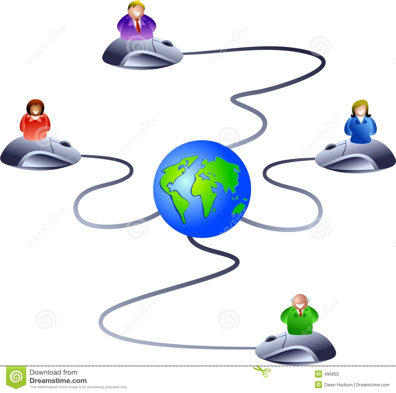 Network of business people logging onto the world wide web  icon
