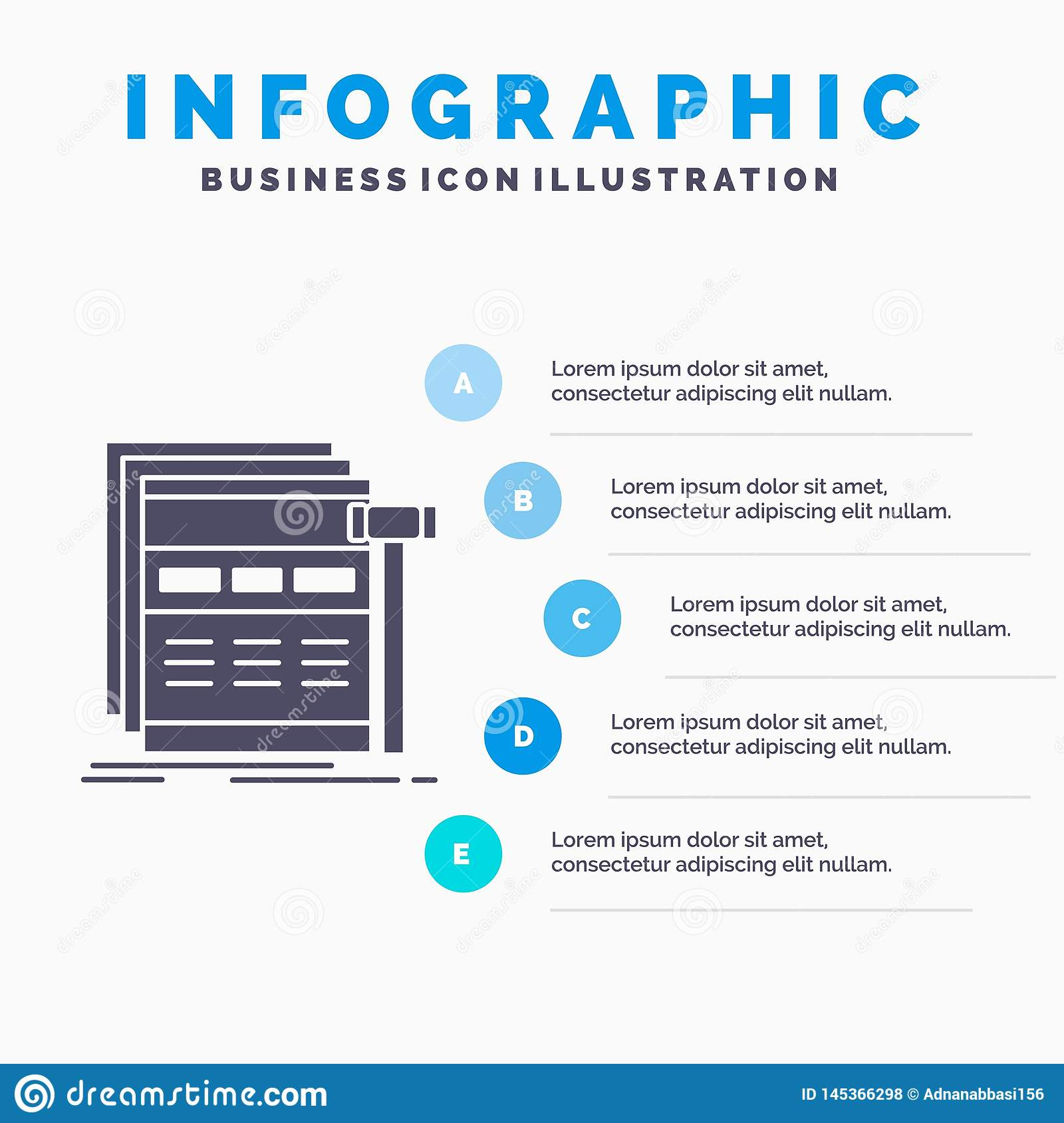 Internet, page, web, webpage, wireframe Infographics Template for Website and Presentation. GLyph Gray icon with Blue infographic