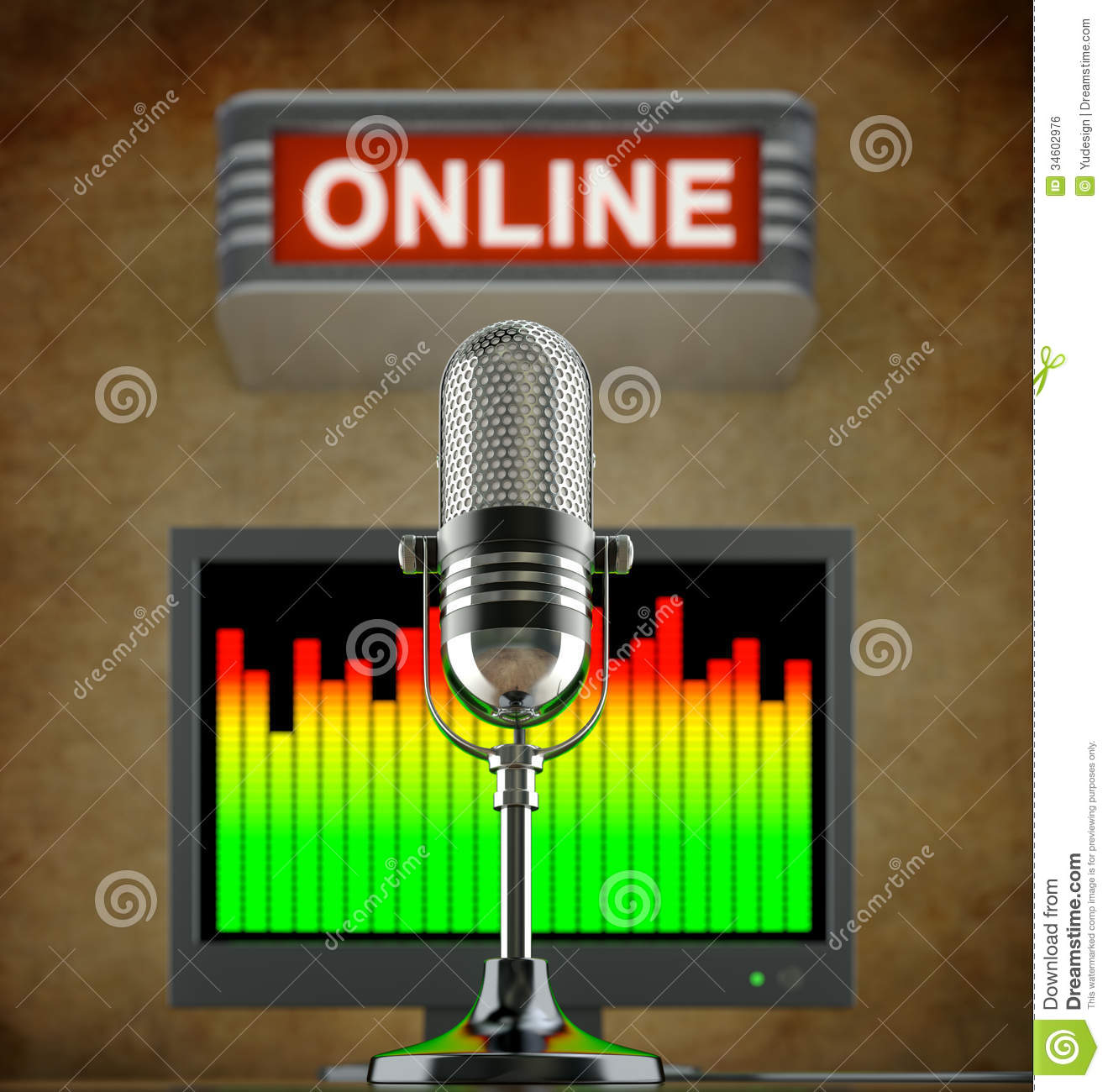 internet radio concept royalty free stock image