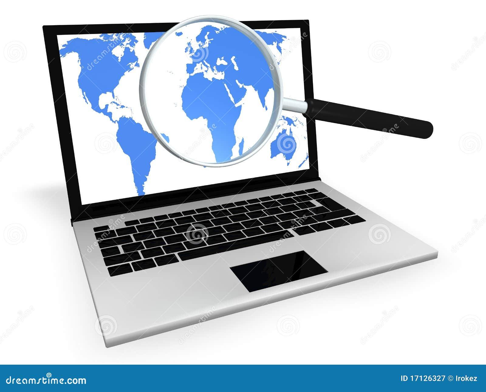 Internet-Recherche Zu Information Stock Abbildung