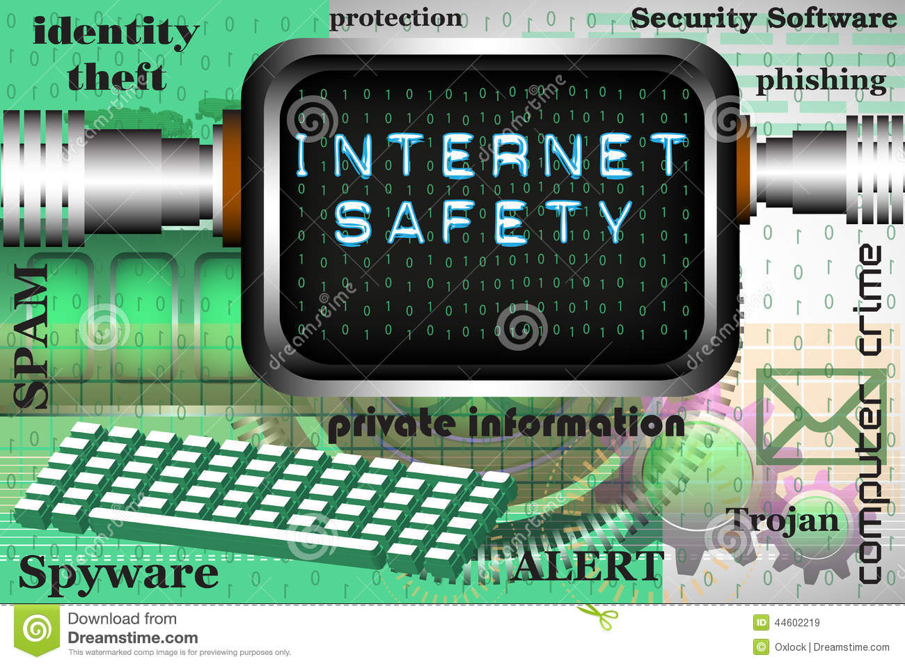 Internet Safety Stock Vector Image 44602219