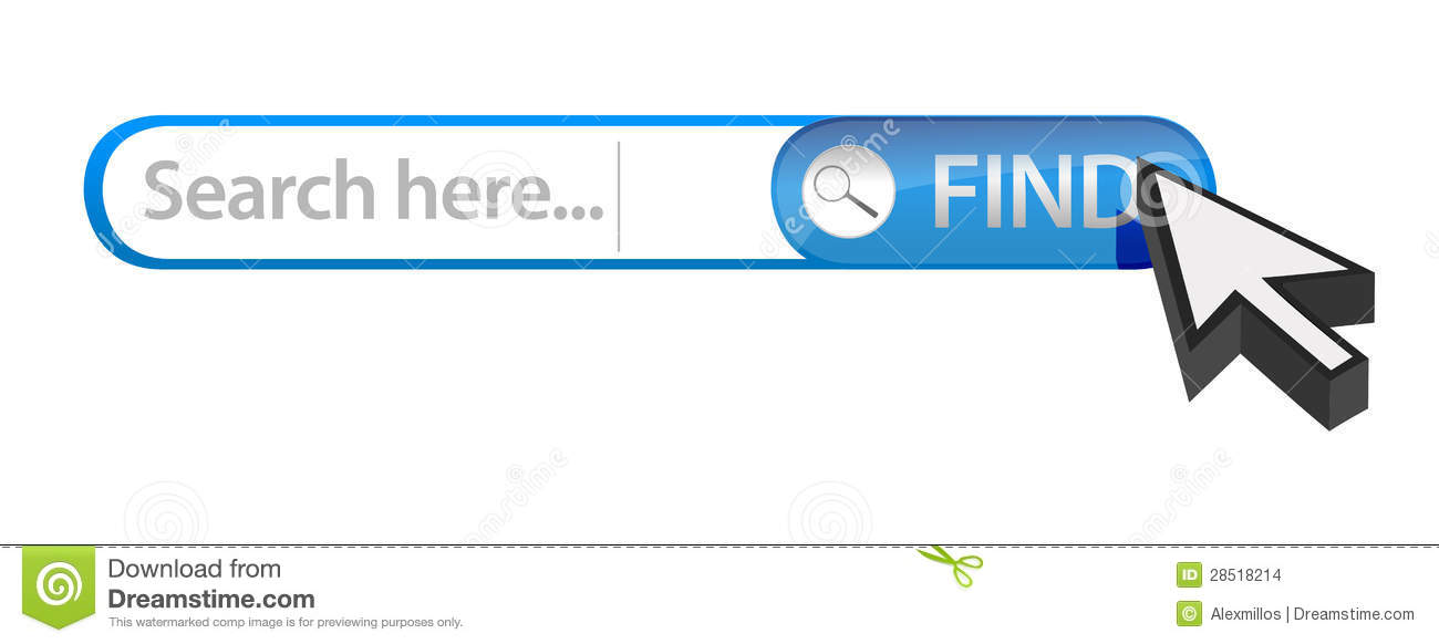 Internet search bar illustration design over white.