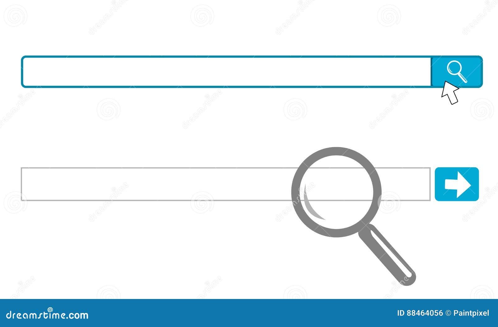 internet search engine input box stock illustration illustration